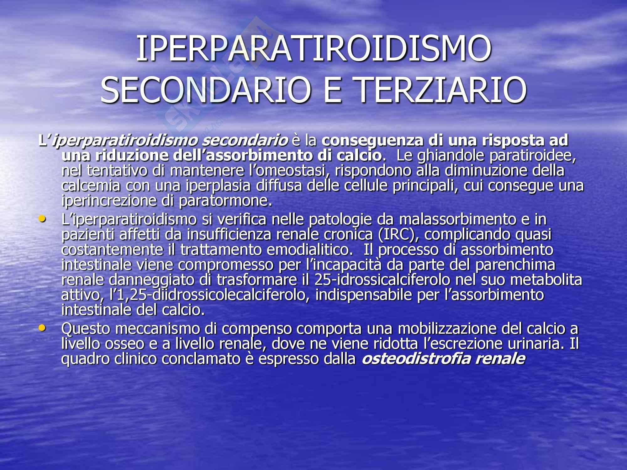 Chirurgia dell'apparato digerente - Iperparatiroidismo secondario e terziario