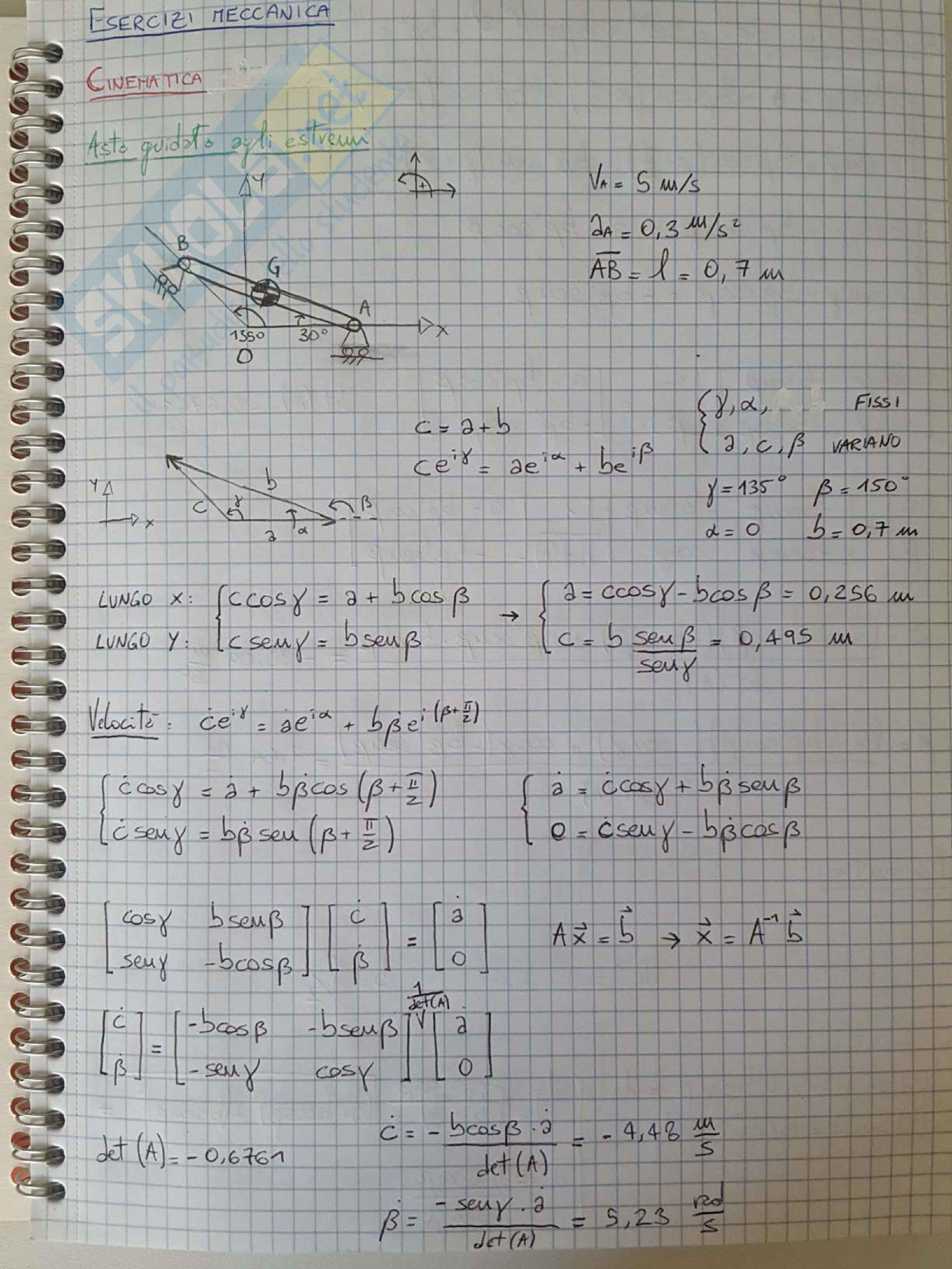 Esercizi e temi d'esame svolti di Meccanica Applicata alle Macchine