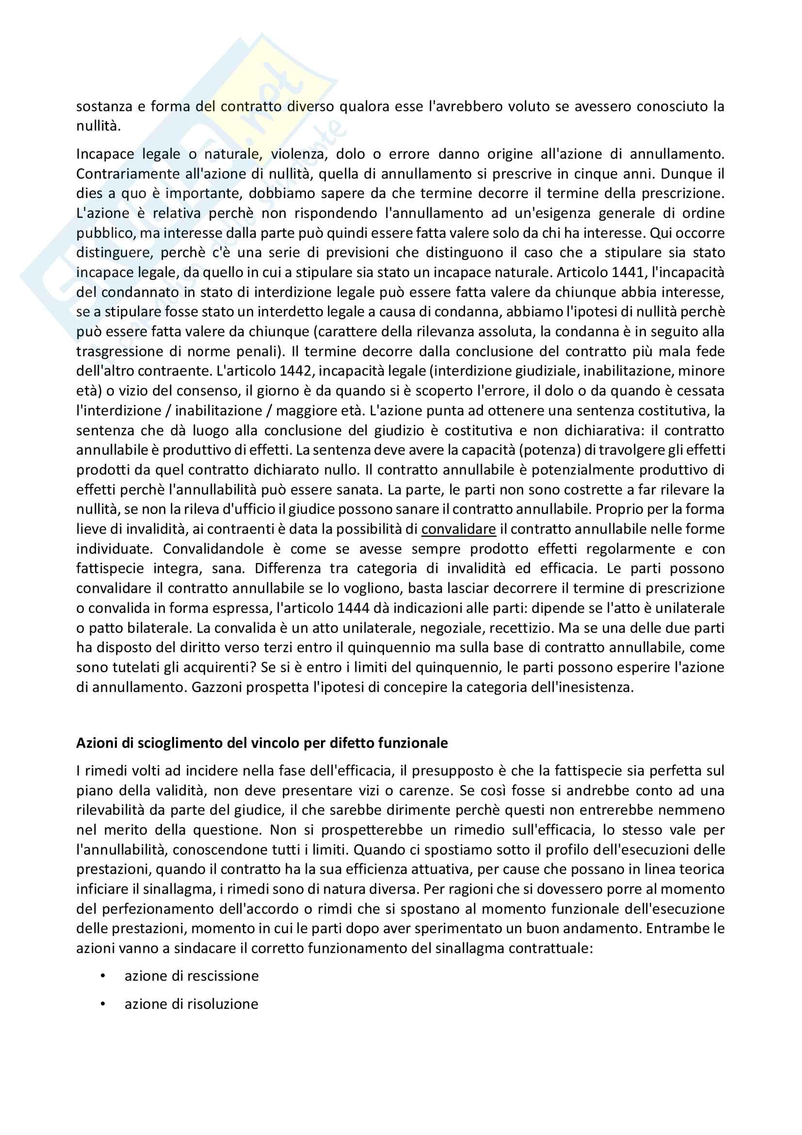 Istituzioni di diritto privato II: Obbligazioni Pag. 46