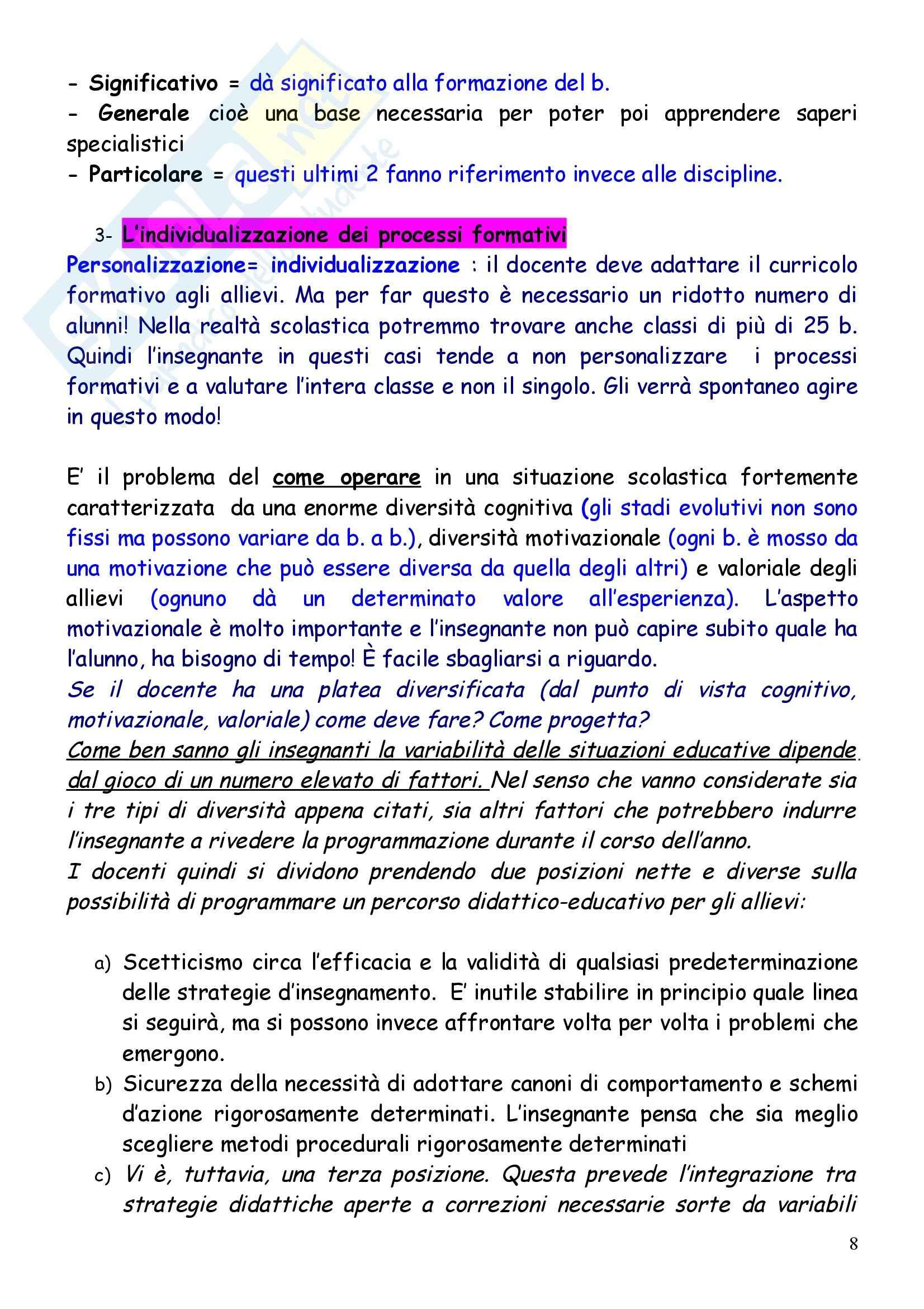 Teoria e metodi della valutazione e programmazione scolastica Pag. 16