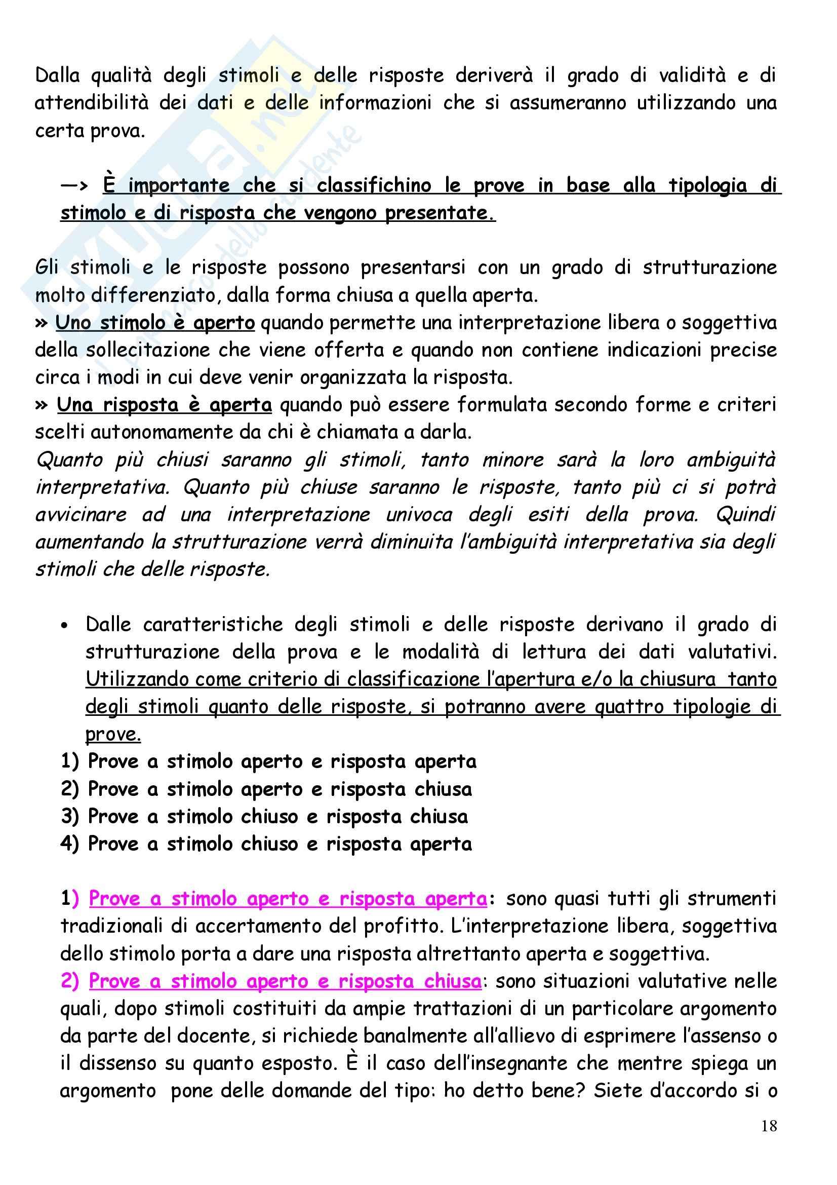 Teoria e metodi della valutazione e programmazione scolastica Pag. 26