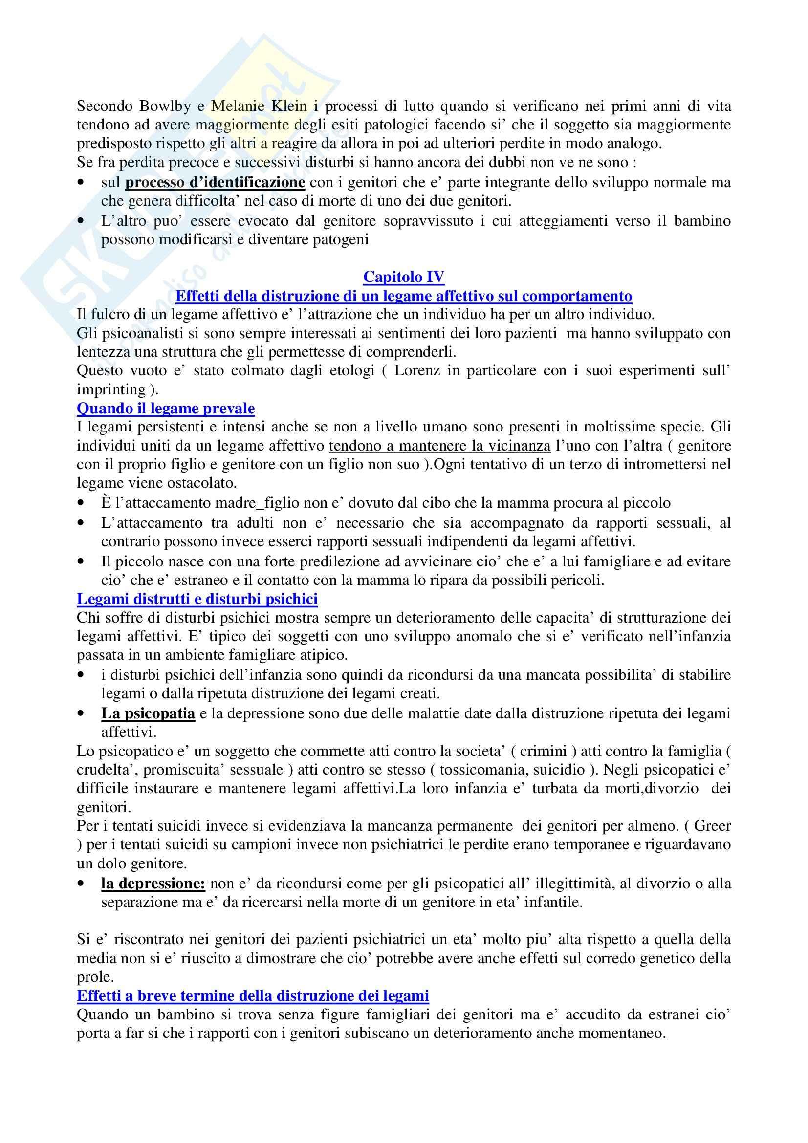 Costruzione e rottura dei legami affettivi Pag. 6