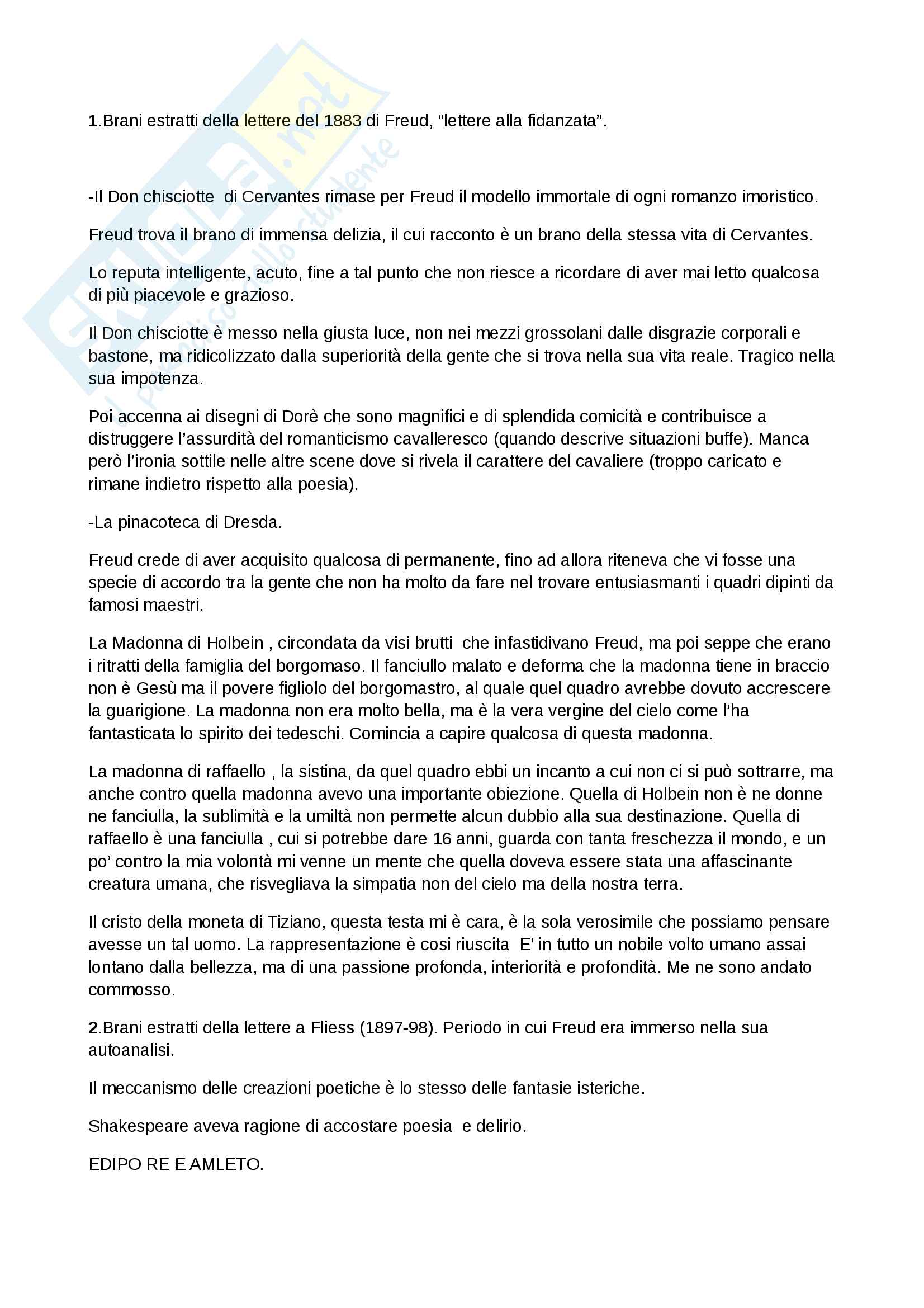 Riassunto per l'esame di psicologia dell'arte, docente Stefano Ferrari , libro consigliato Saggi sull'arte, la letteratura e il linguaggio, Boringhieri