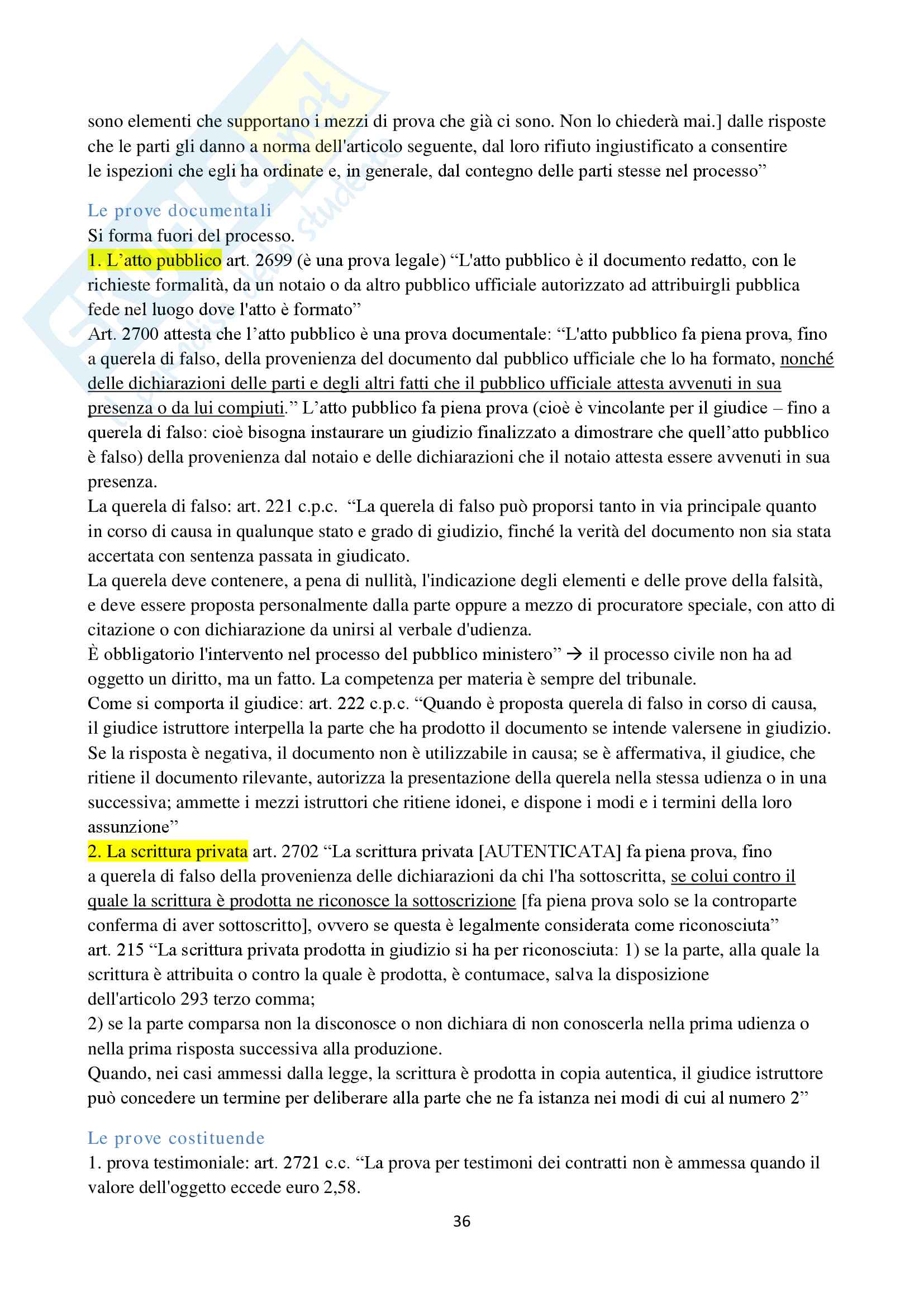 Appunti di Procedura Civile I D'Alessandro per esoneri. Unito Pag. 36