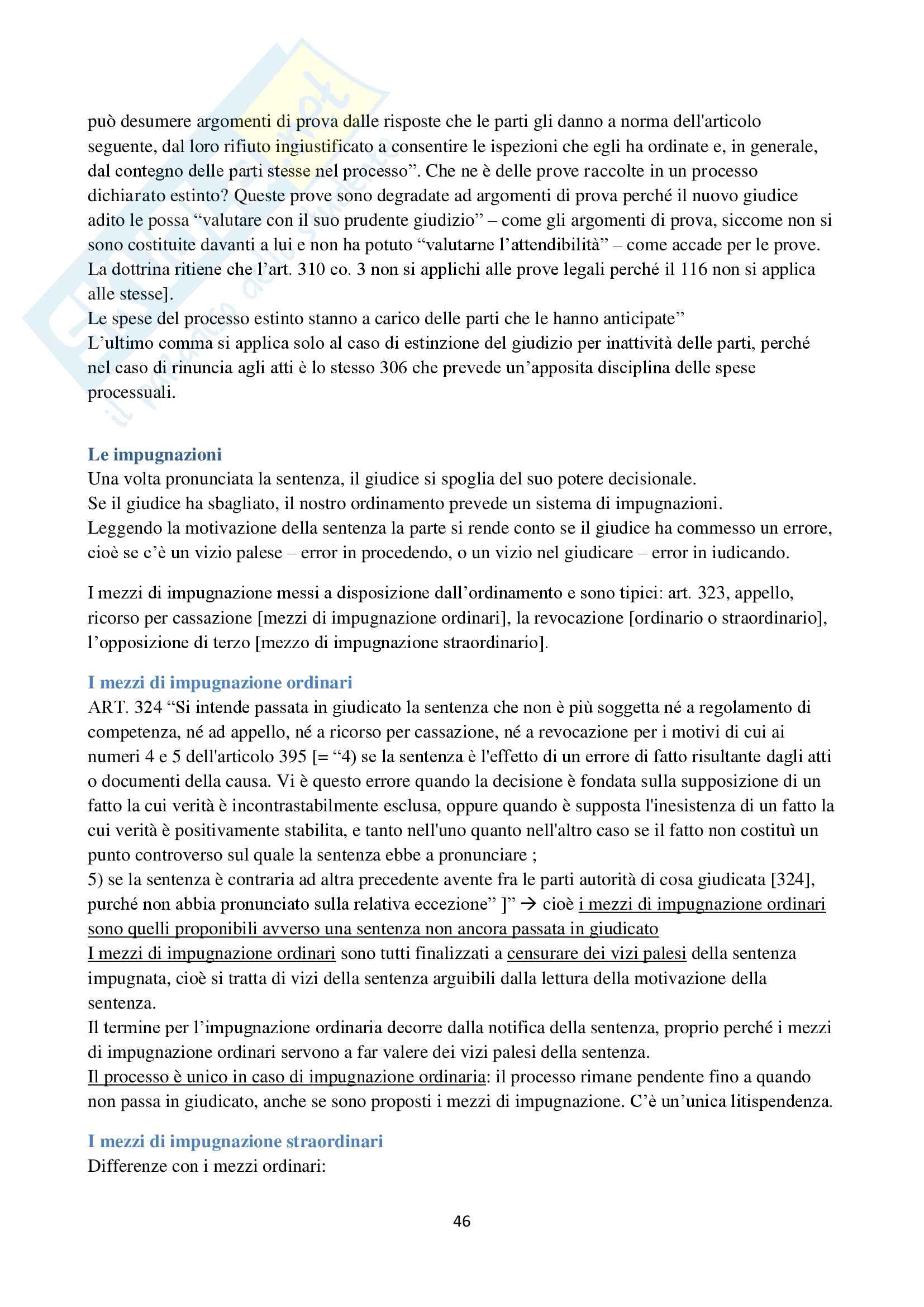 Appunti di Procedura Civile I D'Alessandro per esoneri. Unito Pag. 46