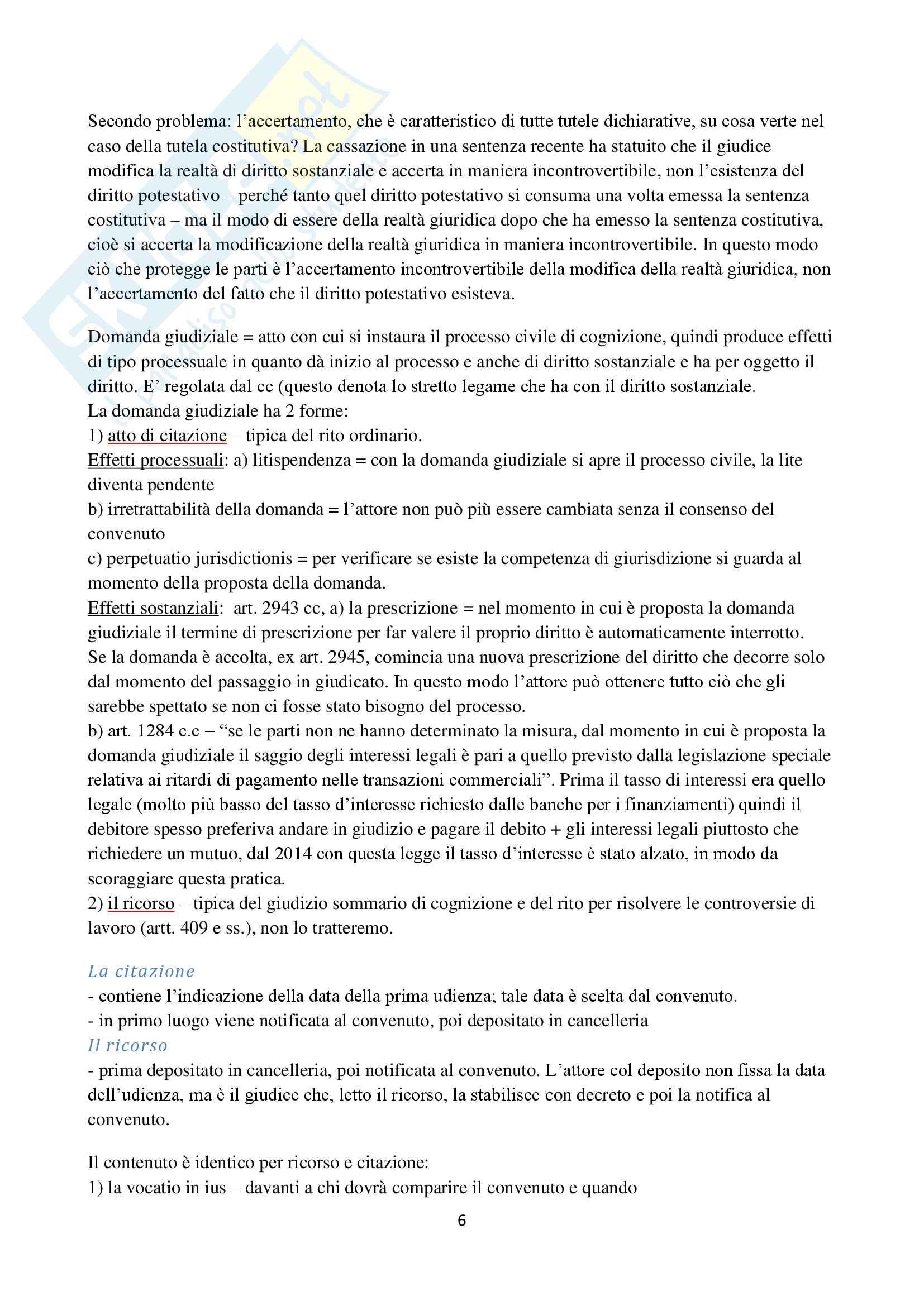 Appunti di Procedura Civile I D'Alessandro per esoneri. Unito Pag. 6