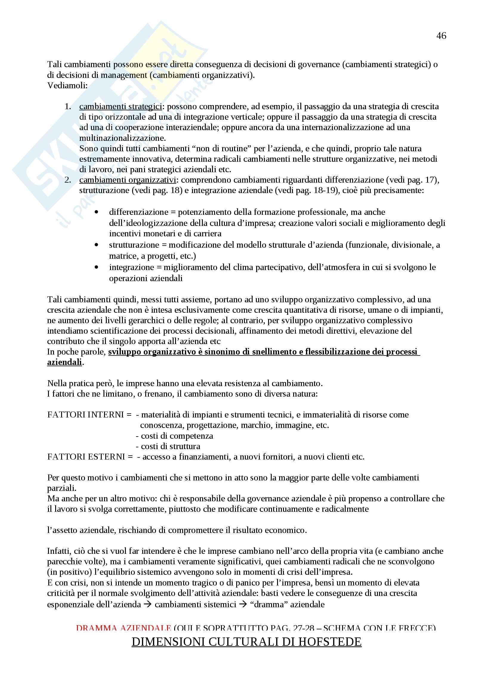 Appunti Economia e gestione delle imprese, Prof. Vagnani Pag. 46