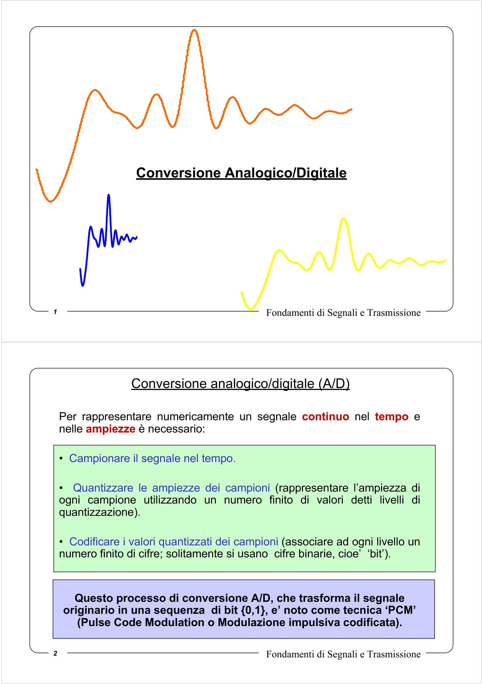 Quantizzazione di segnali