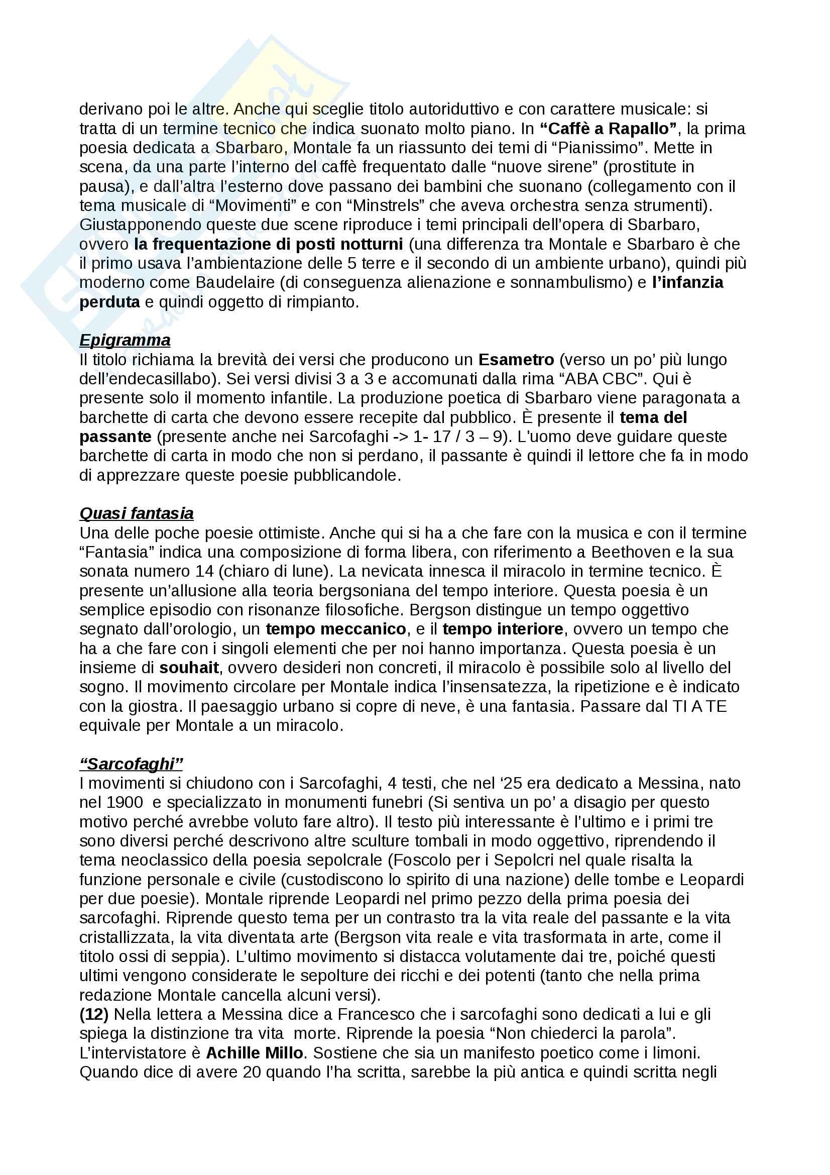 Ossi di seppia di Eugenio Montale Pag. 11