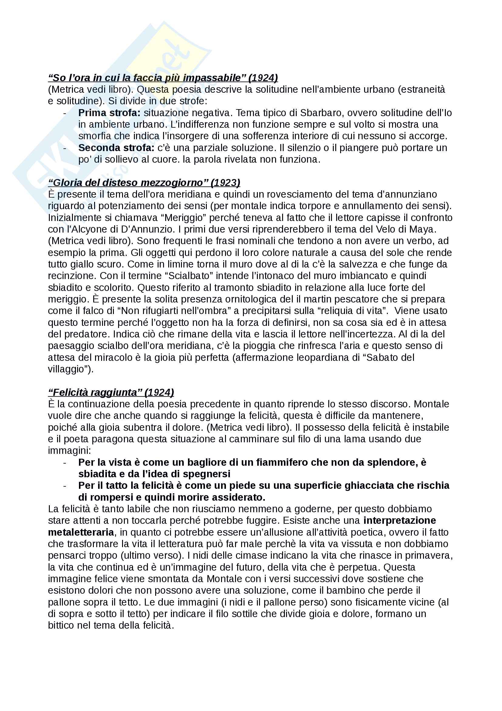 Ossi di seppia di Eugenio Montale Pag. 16