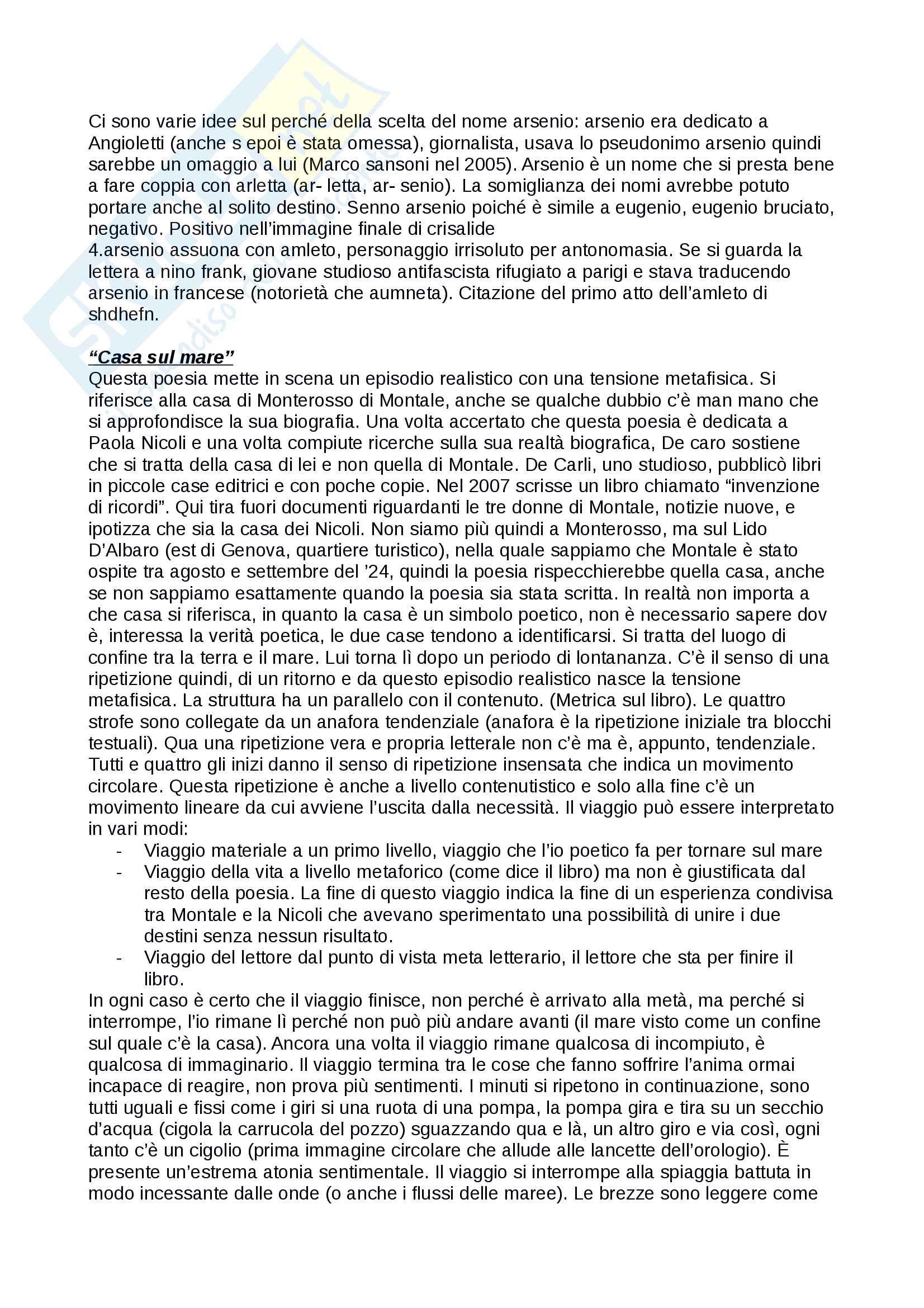 Ossi di seppia di Eugenio Montale Pag. 31