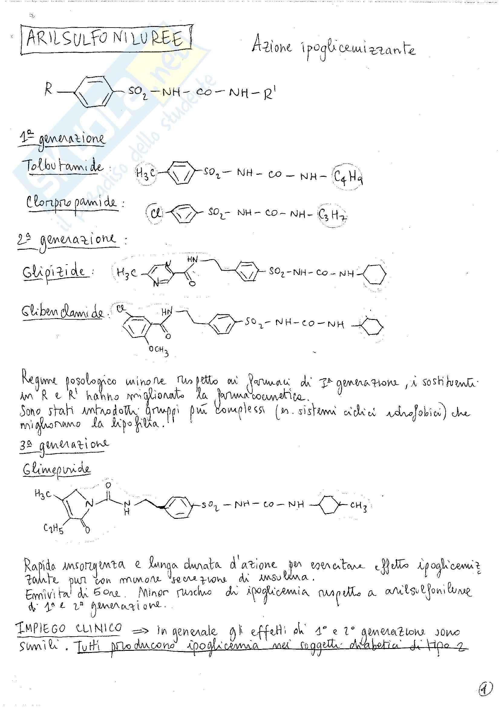 Chimica farmaceutica II - Appunti