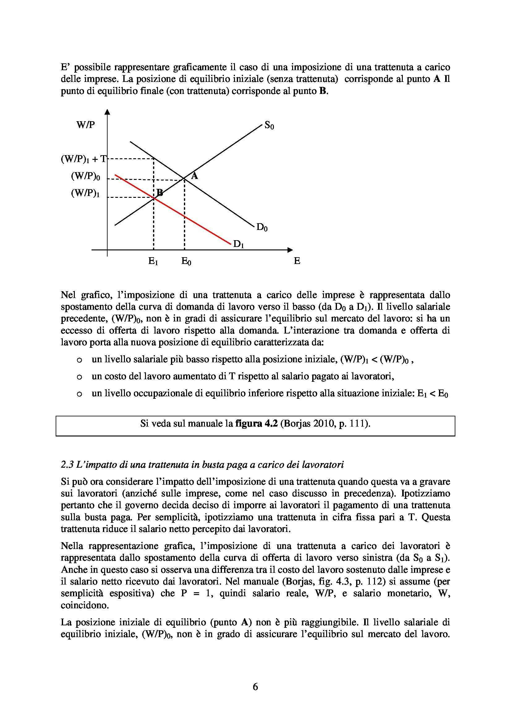 Economia del lavoro - equilibrio MdL Pag. 6