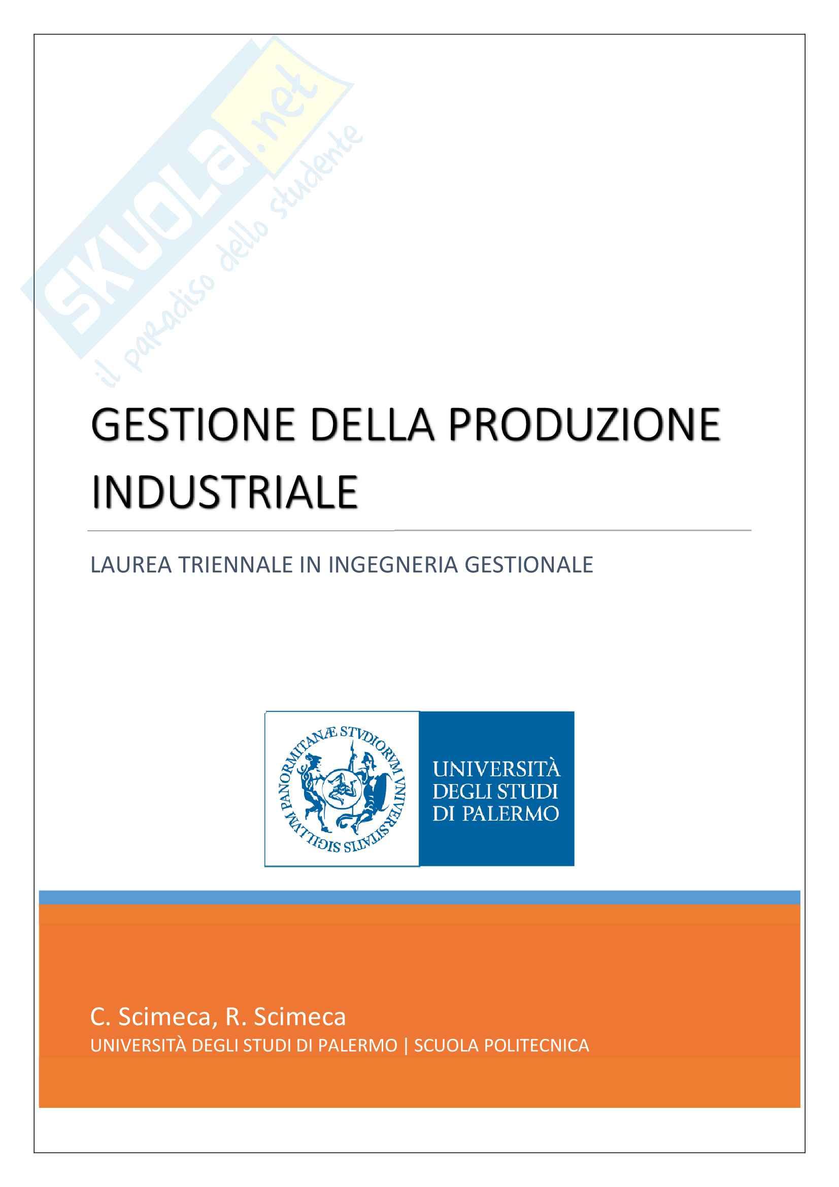 appunto U. La commare Programmazione e gestione della produzione