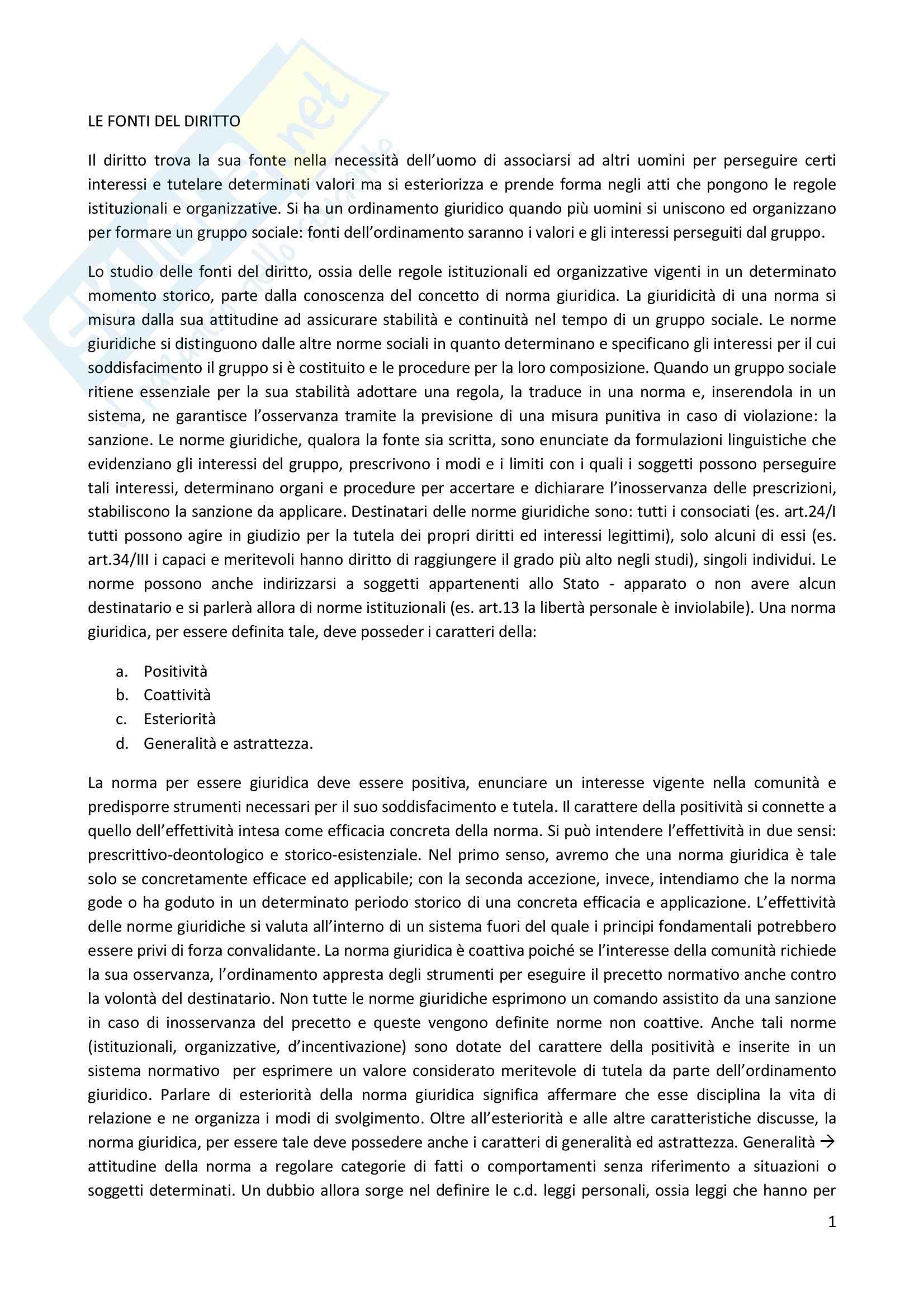 Diritto Costituzionale, Temistocle Martines - Le fonti