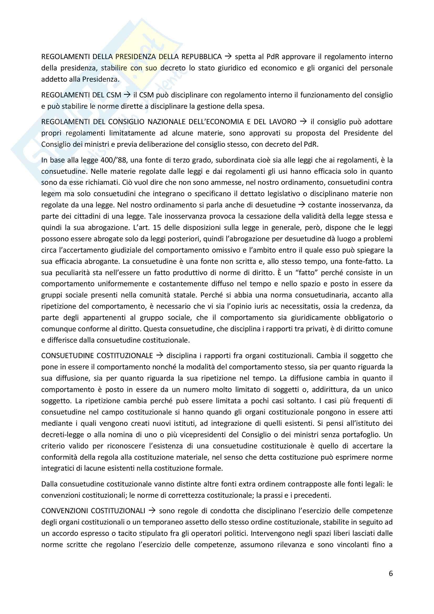 Diritto Costituzionale, Temistocle Martines - Le fonti Pag. 6