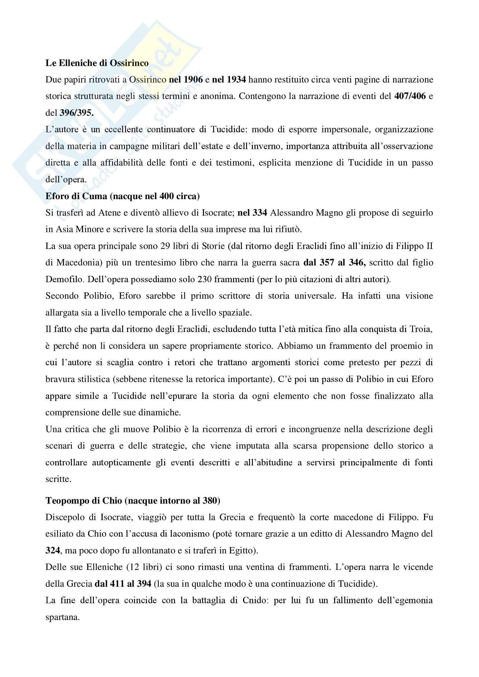 Riassunto esame storia greca, prof. Antonetti, libro consigliato Introduzione alla storiografia greca, Marco Bettalli Pag. 11