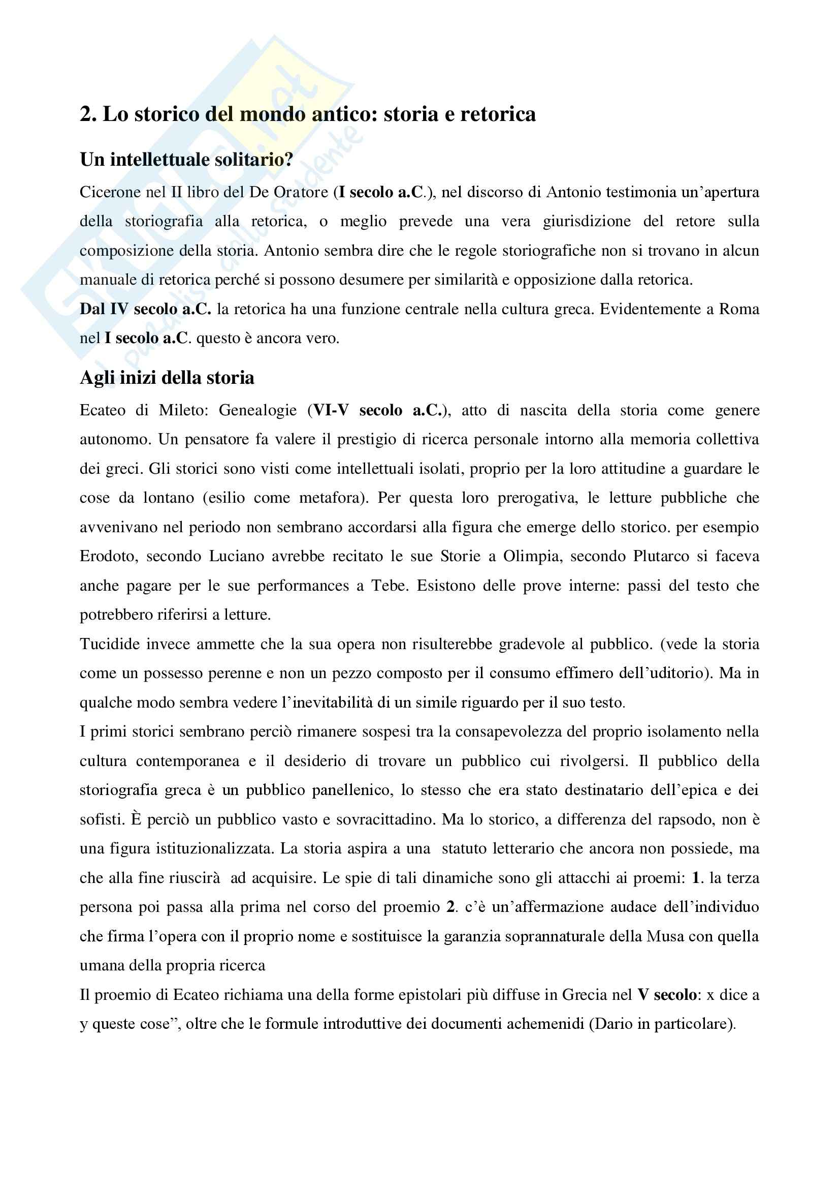 Riassunto esame storia greca, prof. Antonetti, libro consigliato Introduzione alla storiografia greca, Marco Bettalli Pag. 2
