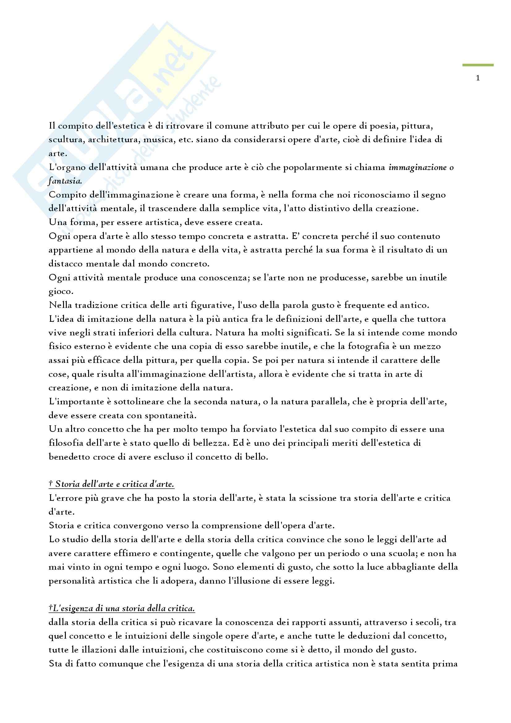 Riassunto esame Storia Critica dell'Arte, prof. Valeri, libro consigliato Storia Critica dell'Arte, Venturi
