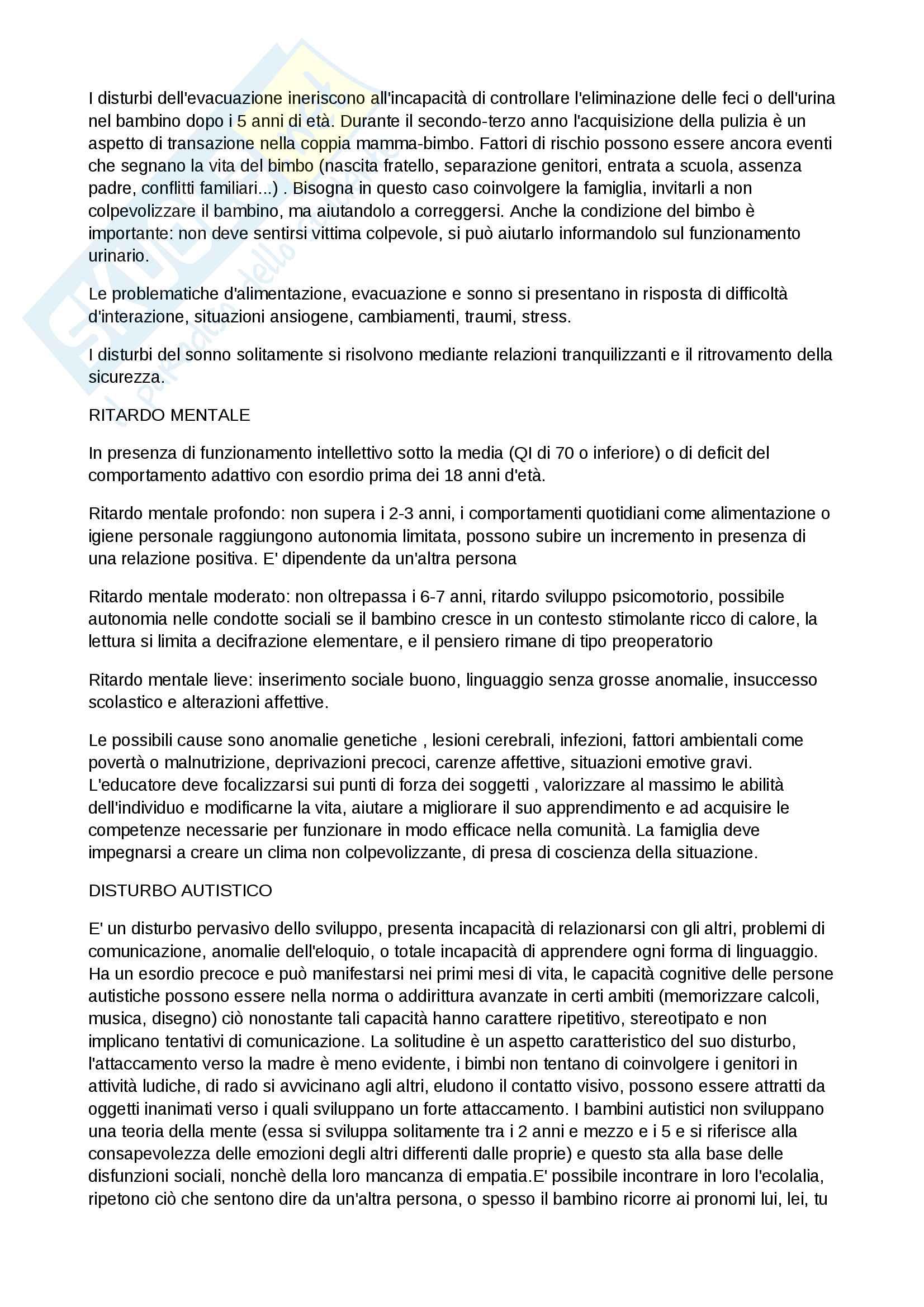 Riassunto esame Psicologia Clinica, docente Perlini, libro consigliato Psicologia Clinica e psicopatologia per l'educazione e la formazione di Roberta Biolcati, Roberto Pani e Samantha Sagliaschi Pag. 11