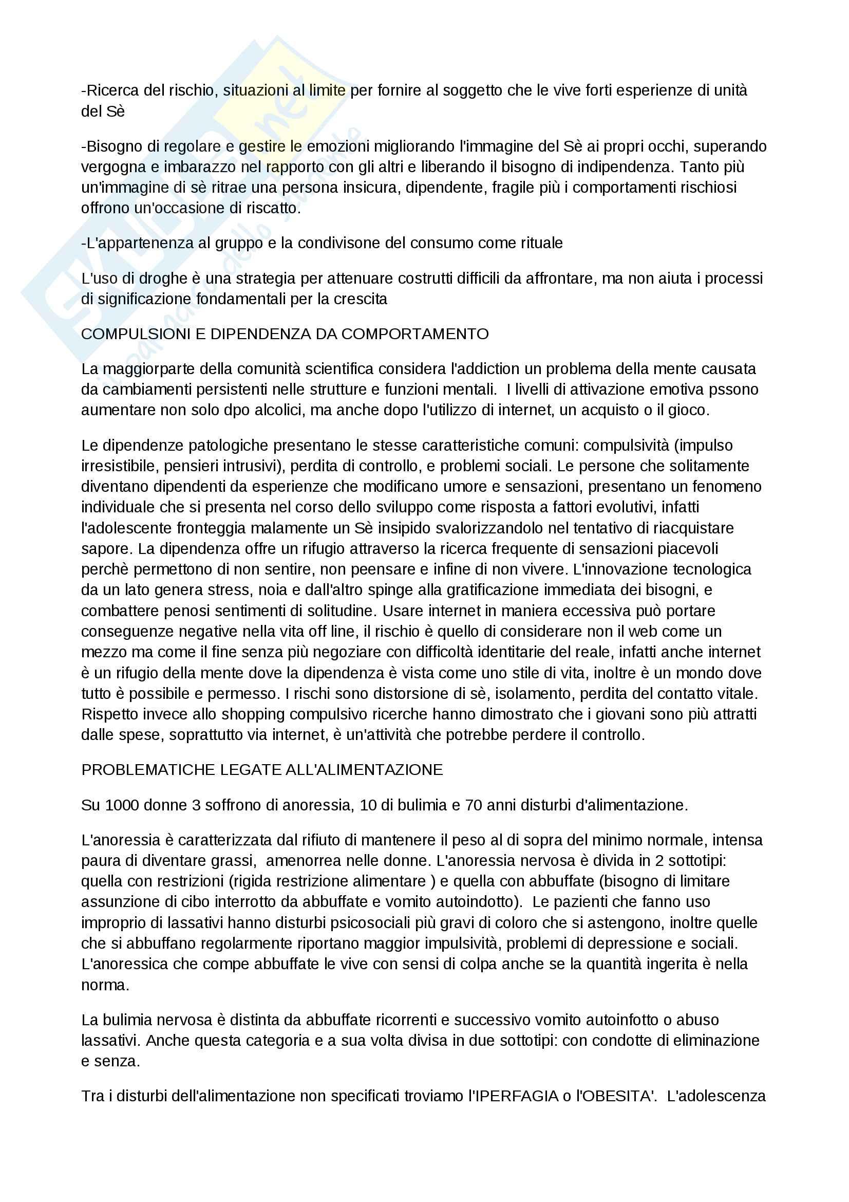 Riassunto esame Psicologia Clinica, docente Perlini, libro consigliato Psicologia Clinica e psicopatologia per l'educazione e la formazione di Roberta Biolcati, Roberto Pani e Samantha Sagliaschi Pag. 16