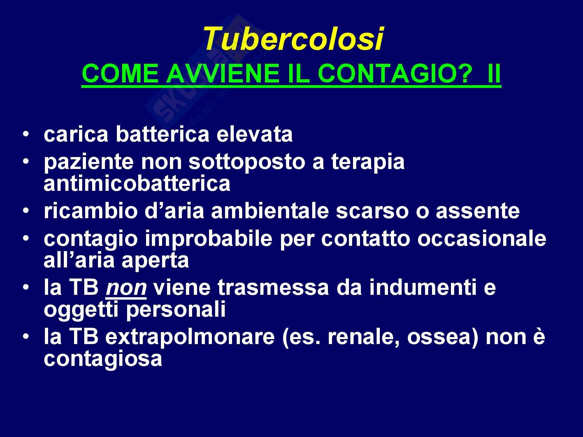 TBC - Tubercolosi polmonare Pag. 11