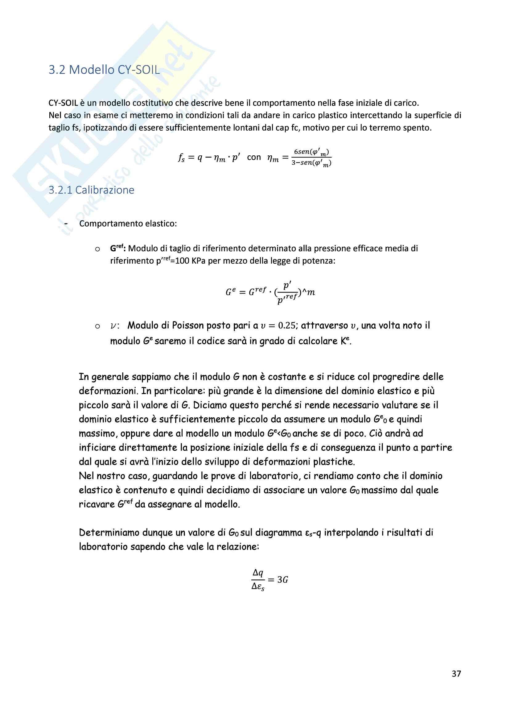 Esercitazioni: Elaborazioni Prove di Laboratorio e modellazione costitutiva in Flac Pag. 36
