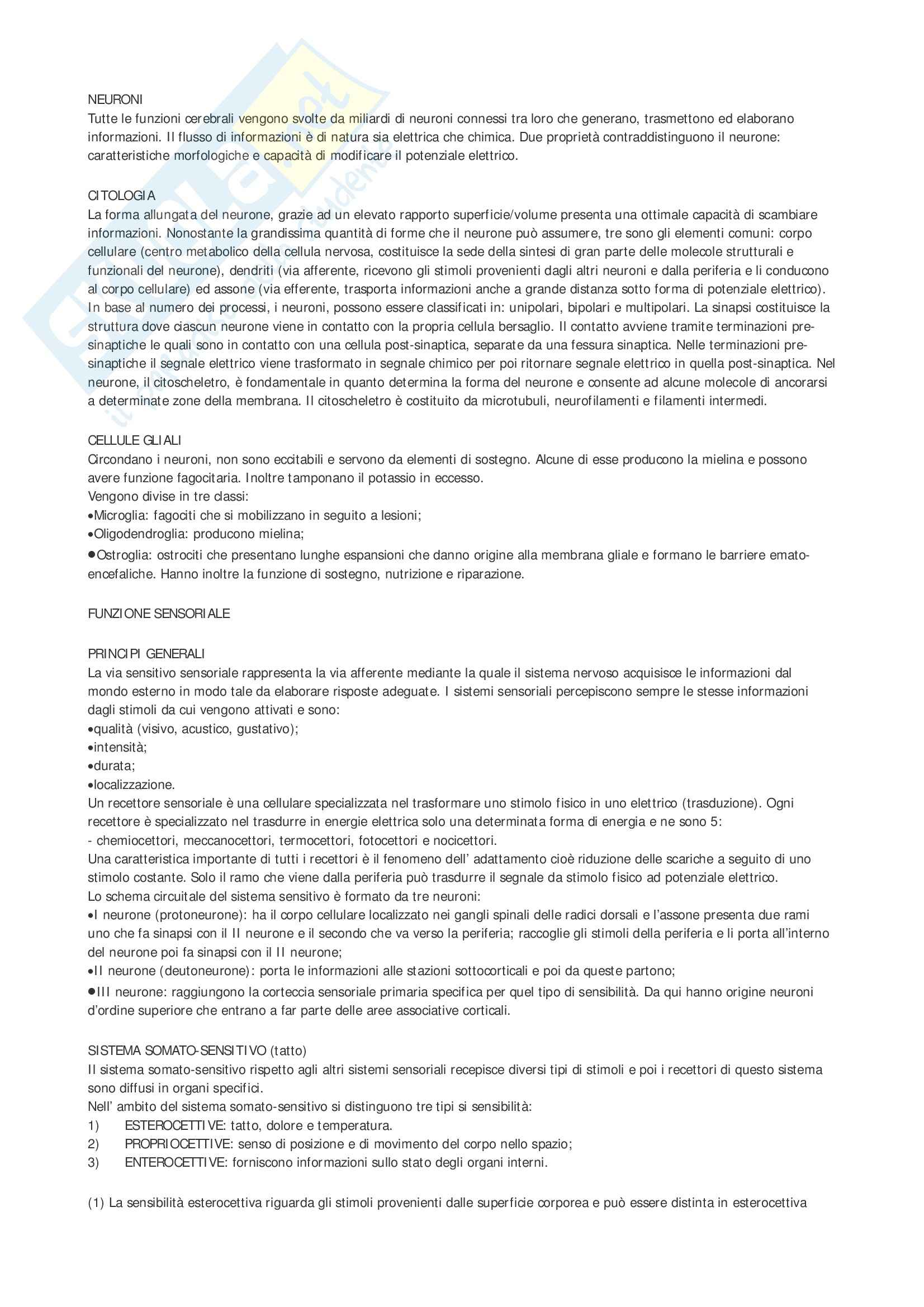 Neurologia - appunti vari