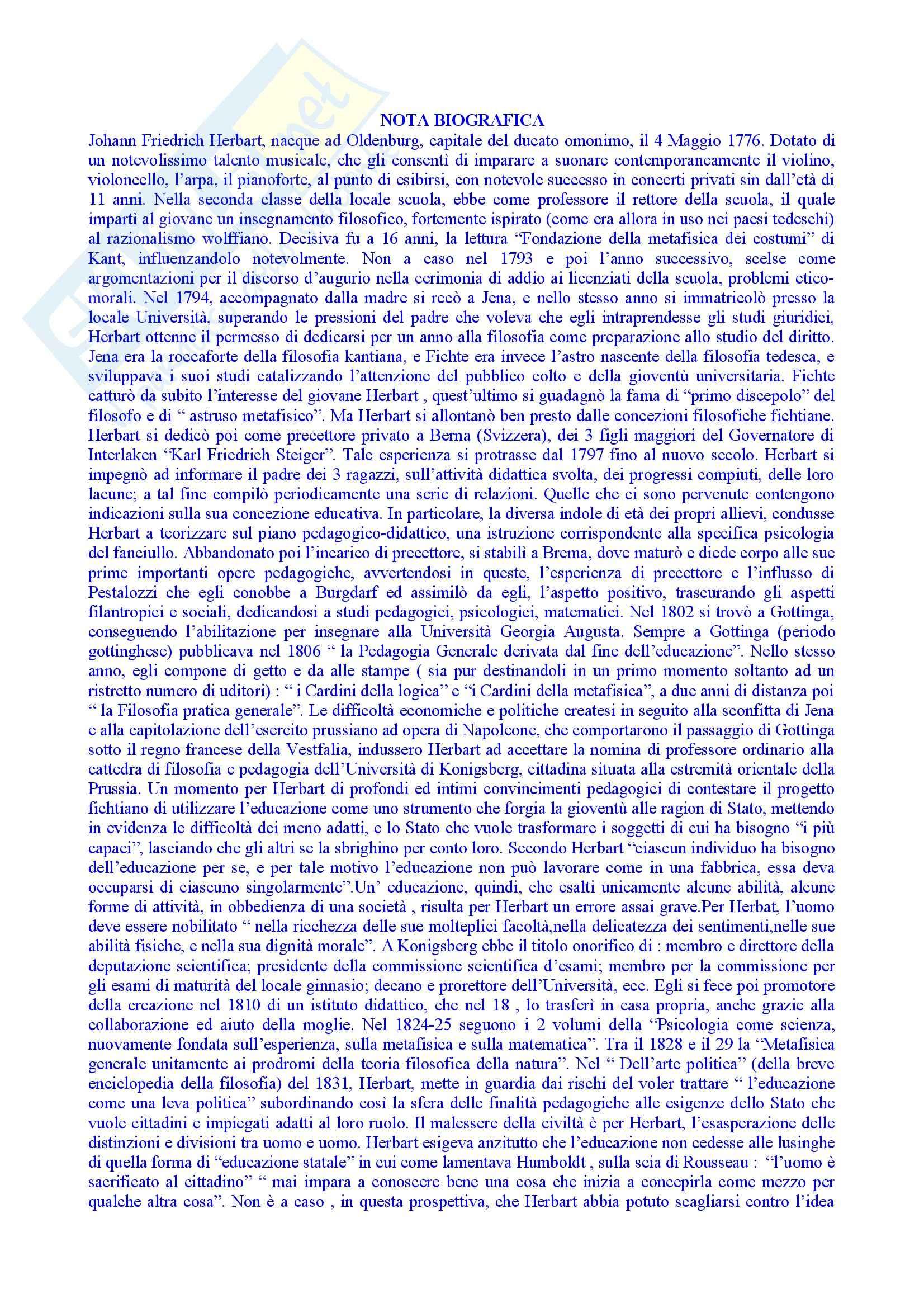 appunto G. Spadafora Pedagogia generale