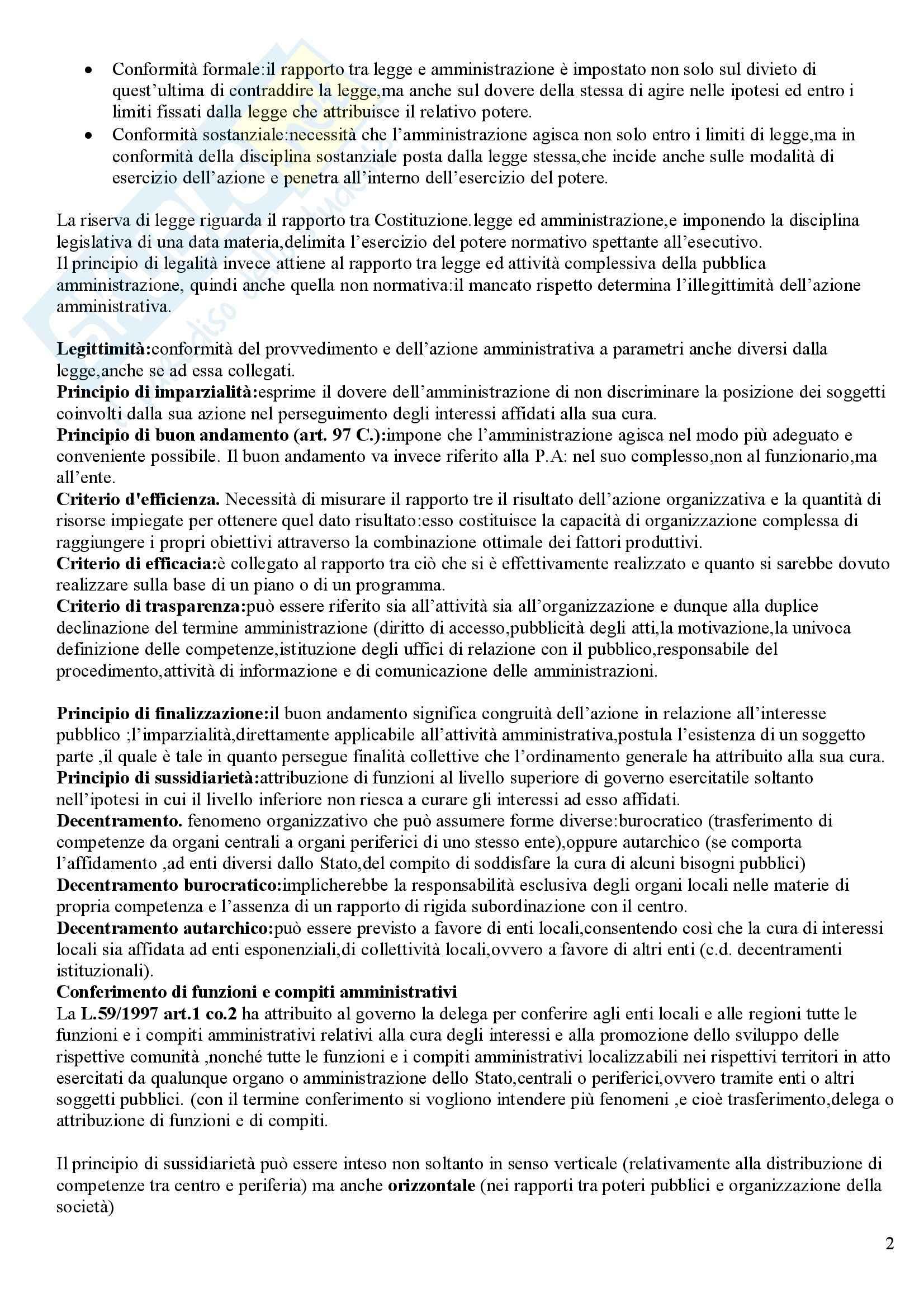 Diritto amministrativo - Riassunto esame, prof. Sandulli Pag. 2