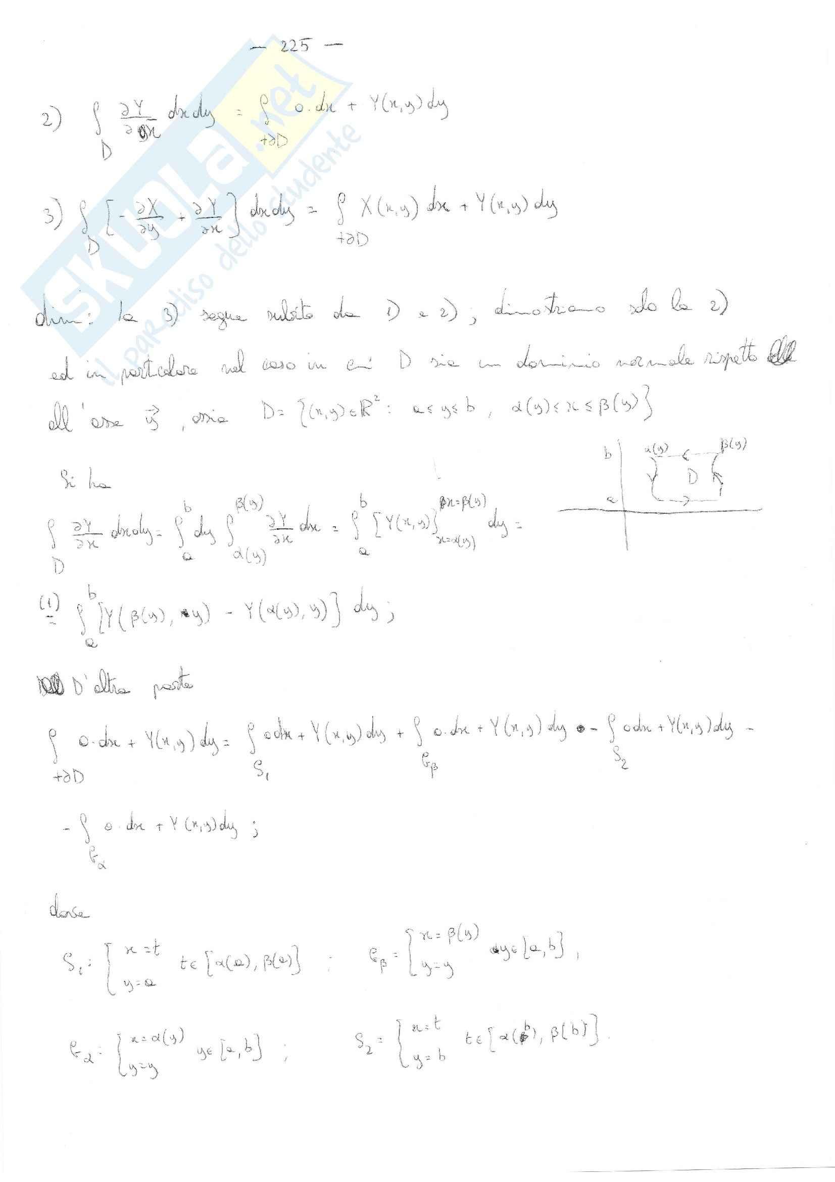 Analisi matematica 2 - le formule di Gauss-Green Pag. 2