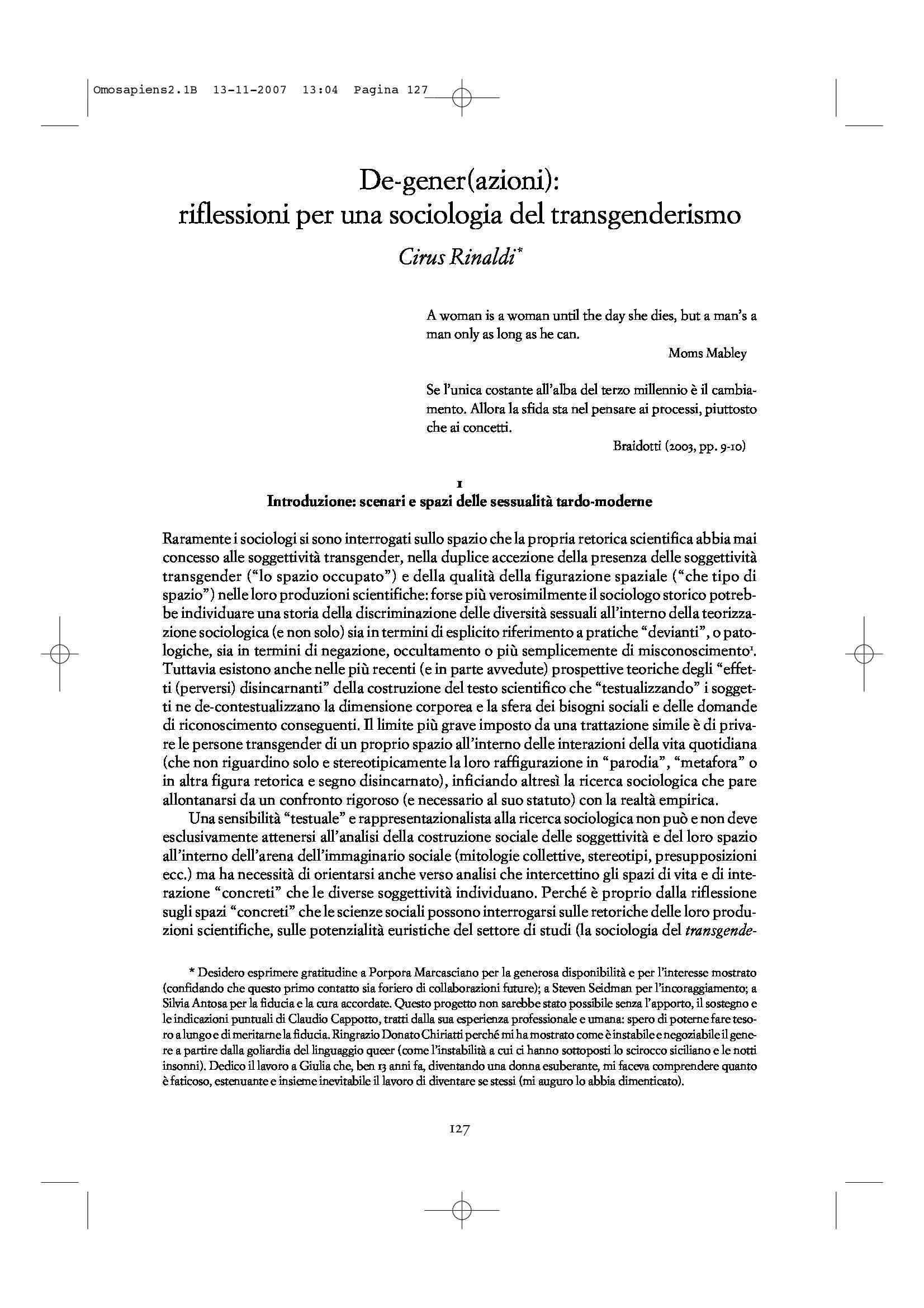 Sociologia del transgenderismo