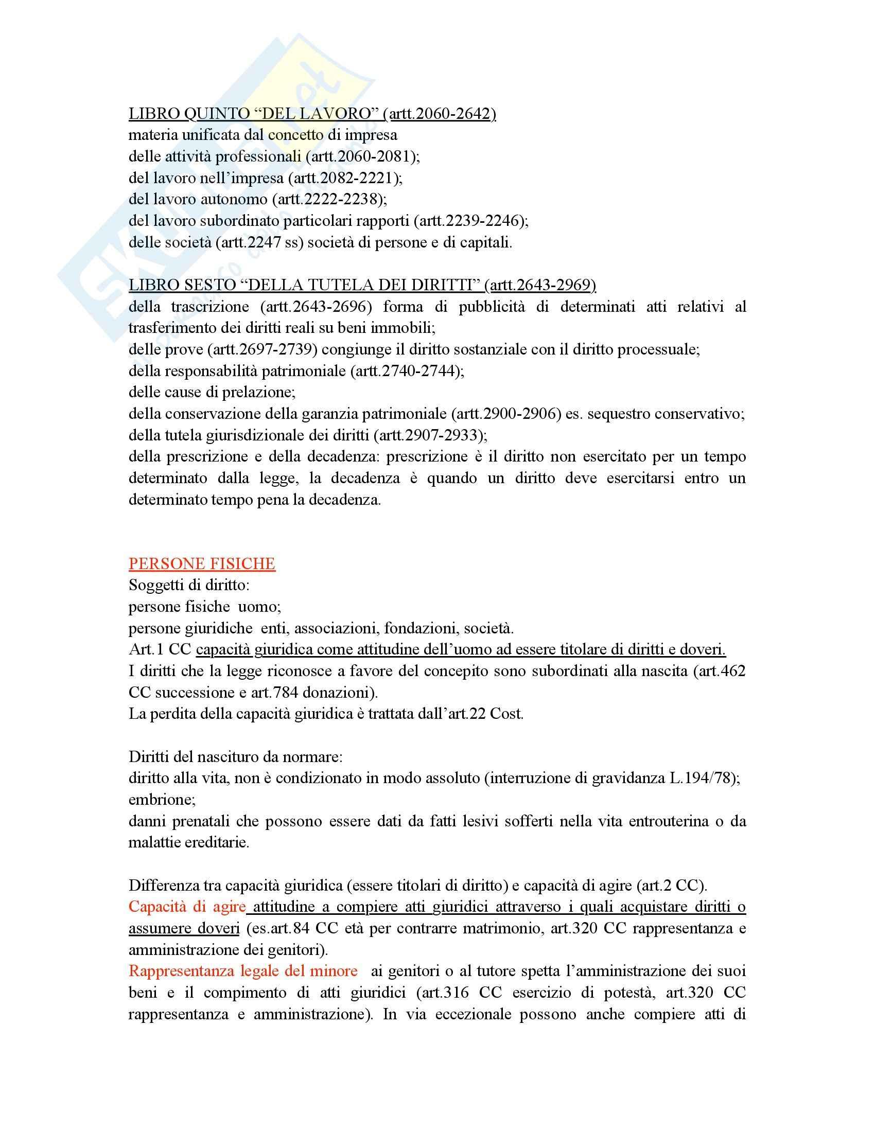 Diritto privato, Galgano - Appunti Pag. 6