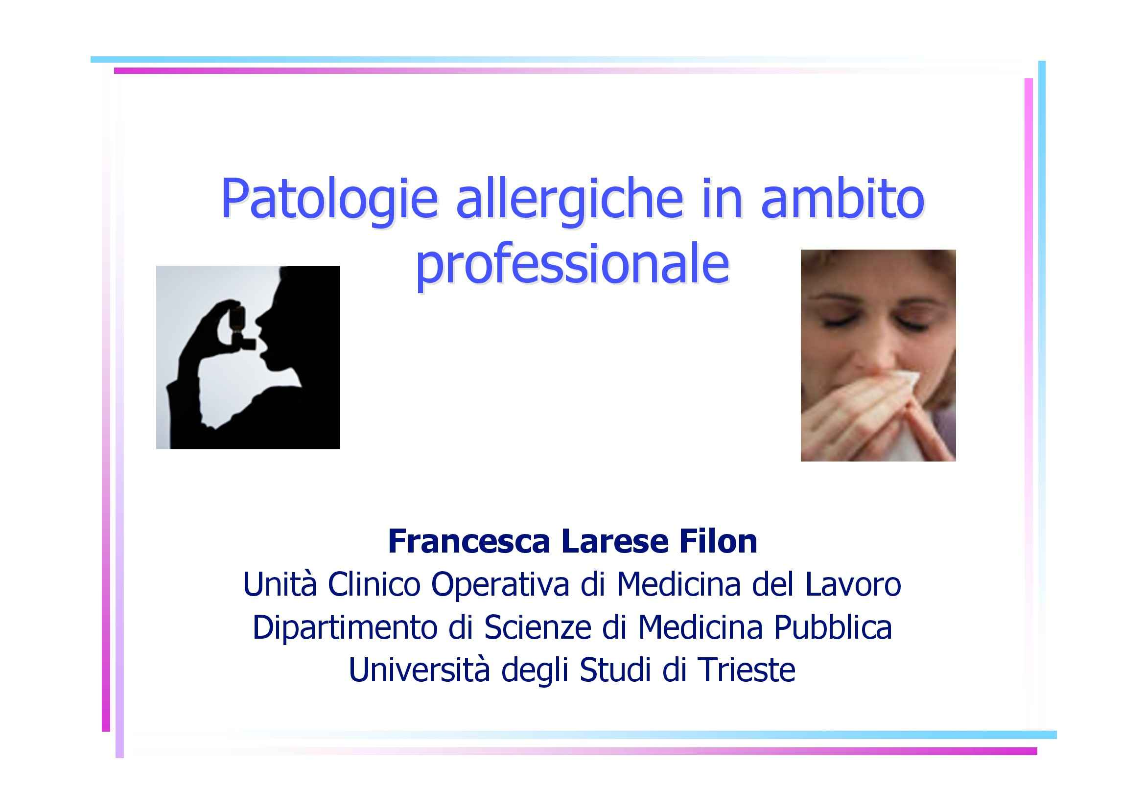 Allergie professionali Pag. 1