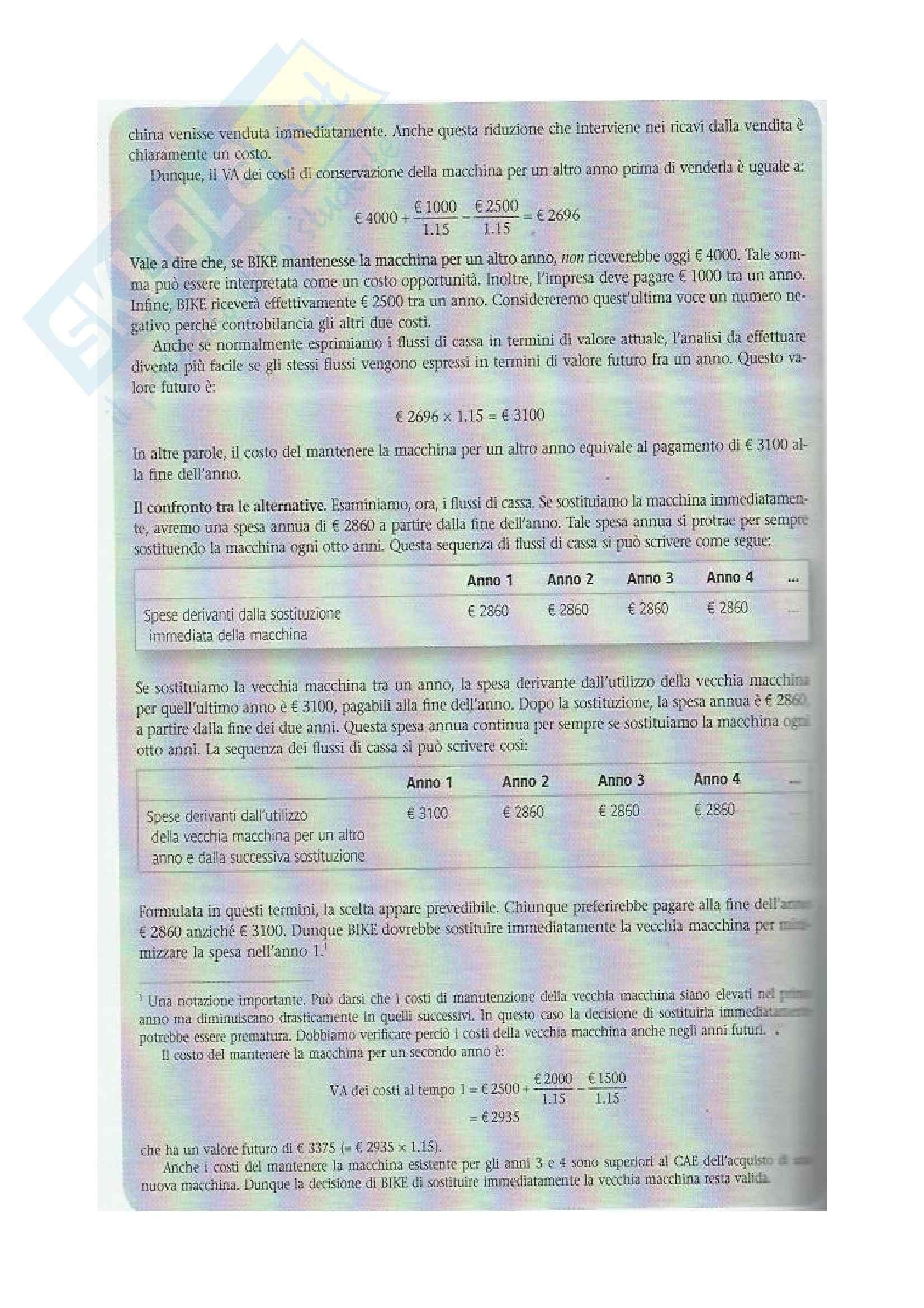 Riassunto esame Analisi e Copertura dei Fabbisogni Finanziari, prof. De Crescenzo, libro consigliato Finanza aziendale, Mc Graw-Hill Pag. 21