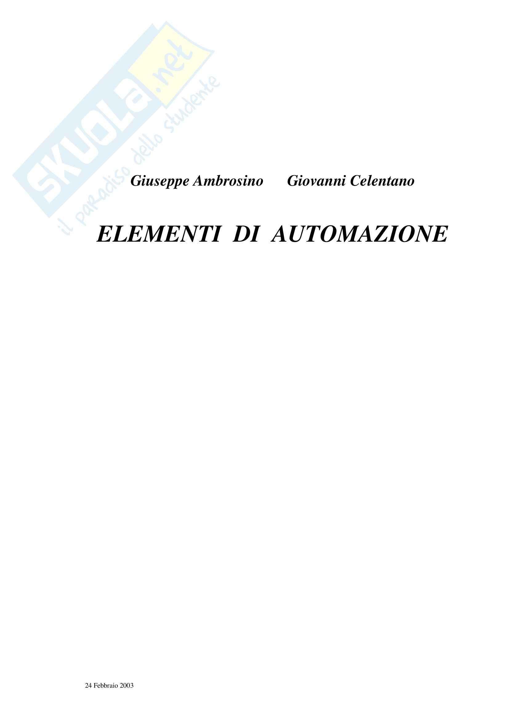 Elementi di Automazione – Cap 1-2