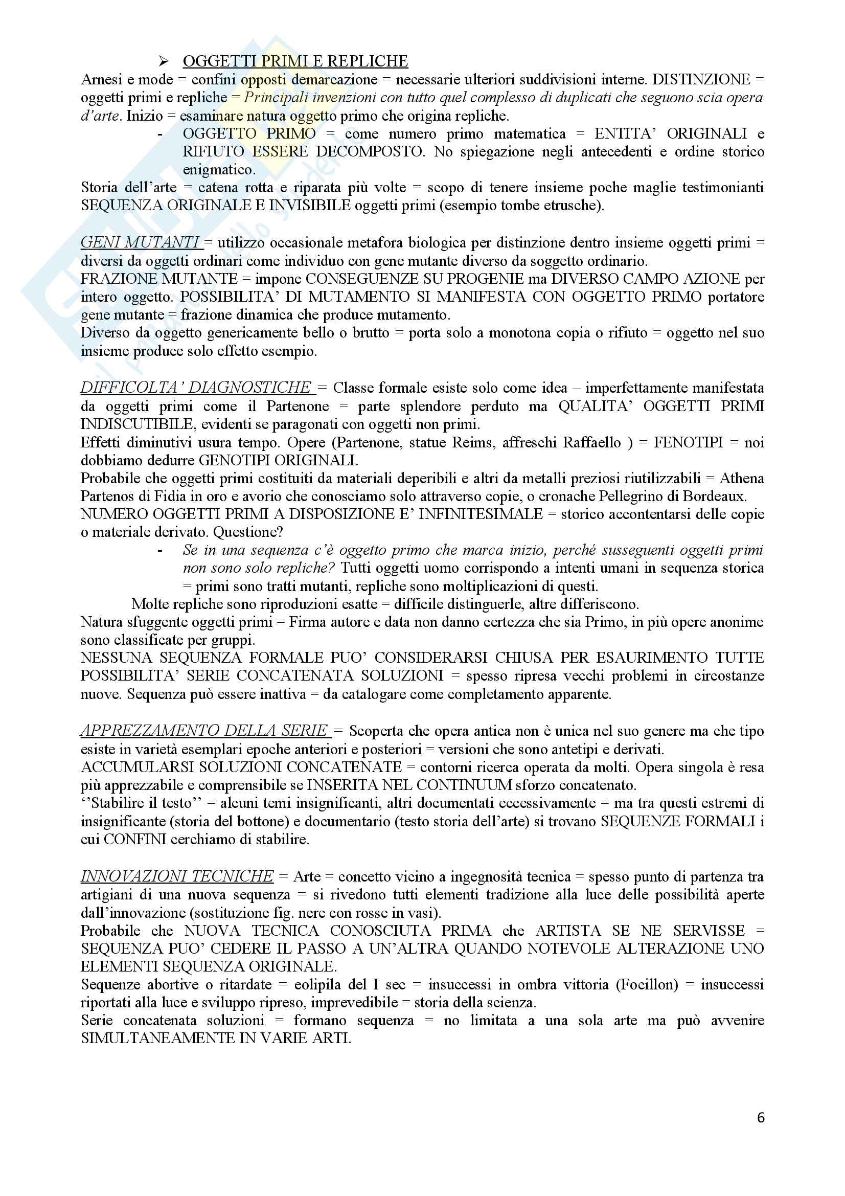 Riassunto esame Letteratura, La forma nel tempo, Kubler, prof. Sartor Pag. 6