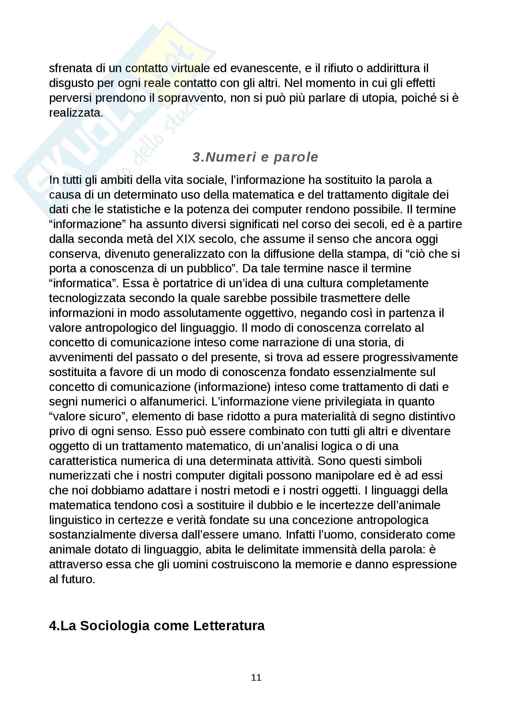 Riassunto esame Comunicazione e processi culturali, prof. Pecchinenda Gianfranco, libro consigliato Il Sistema Mimetico, Gianfranco Pecchinenda Pag. 11