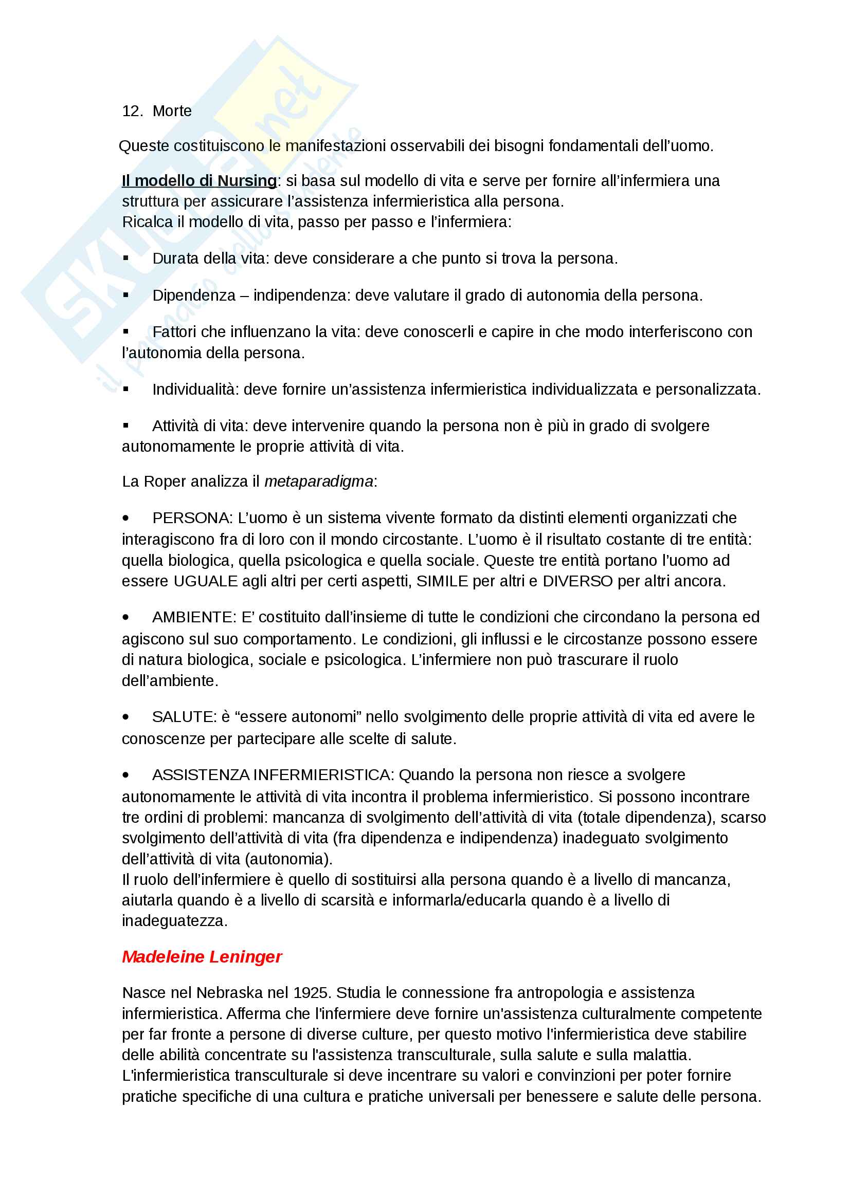 Teorie del nursing-Appunti Completi Pag. 16