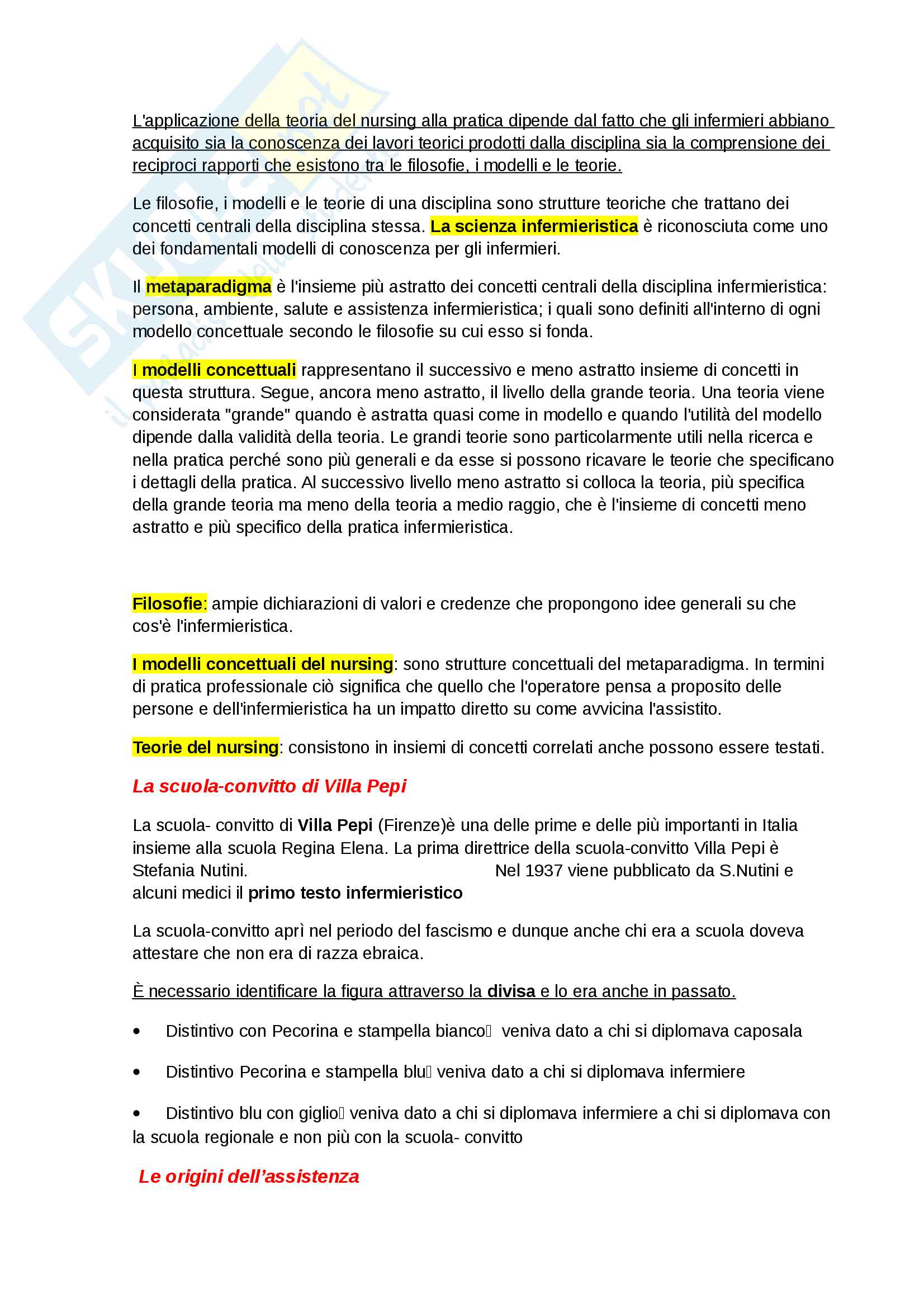 Teorie del nursing-Appunti Completi Pag. 2