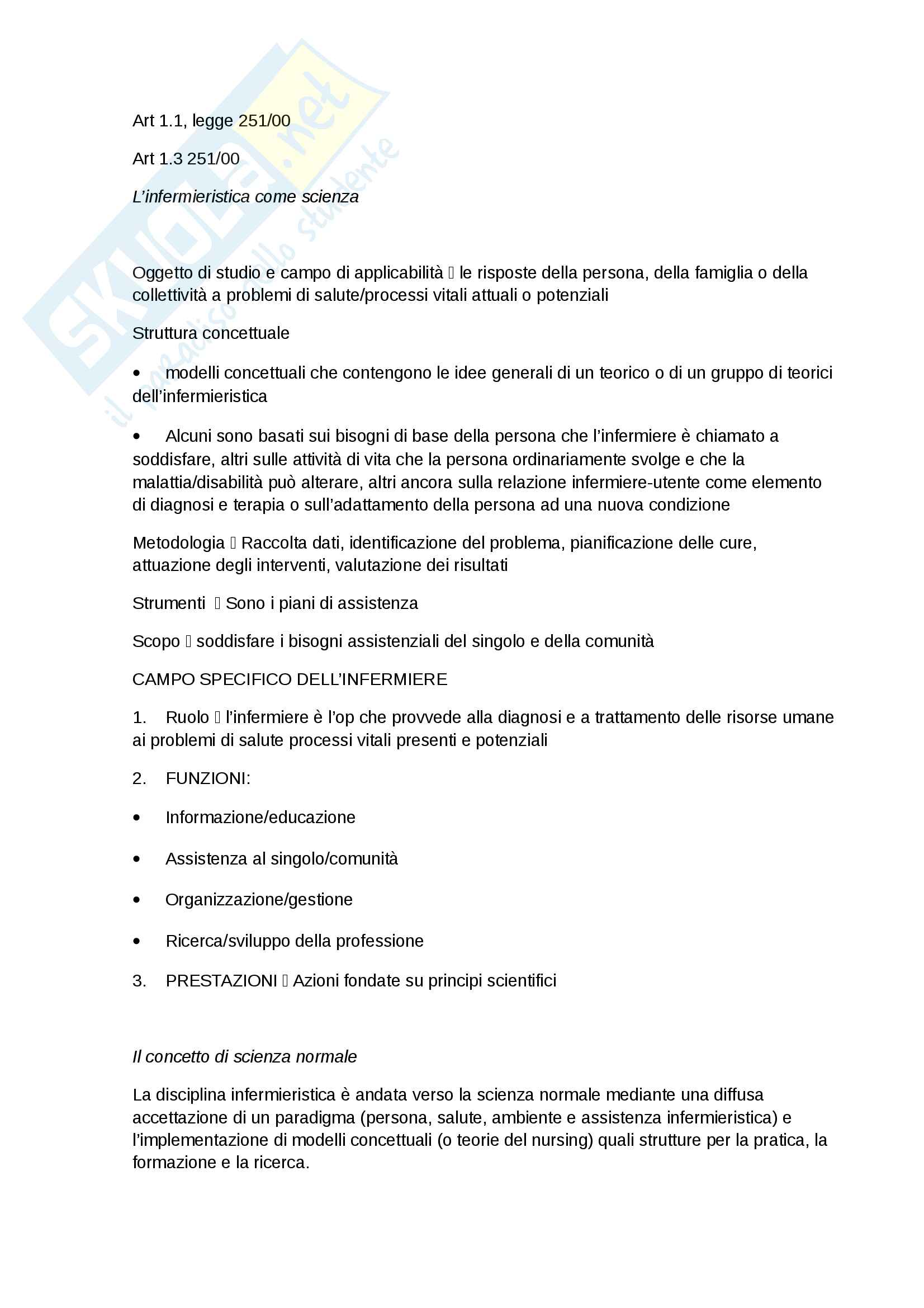Teorie del nursing-Appunti Completi Pag. 6