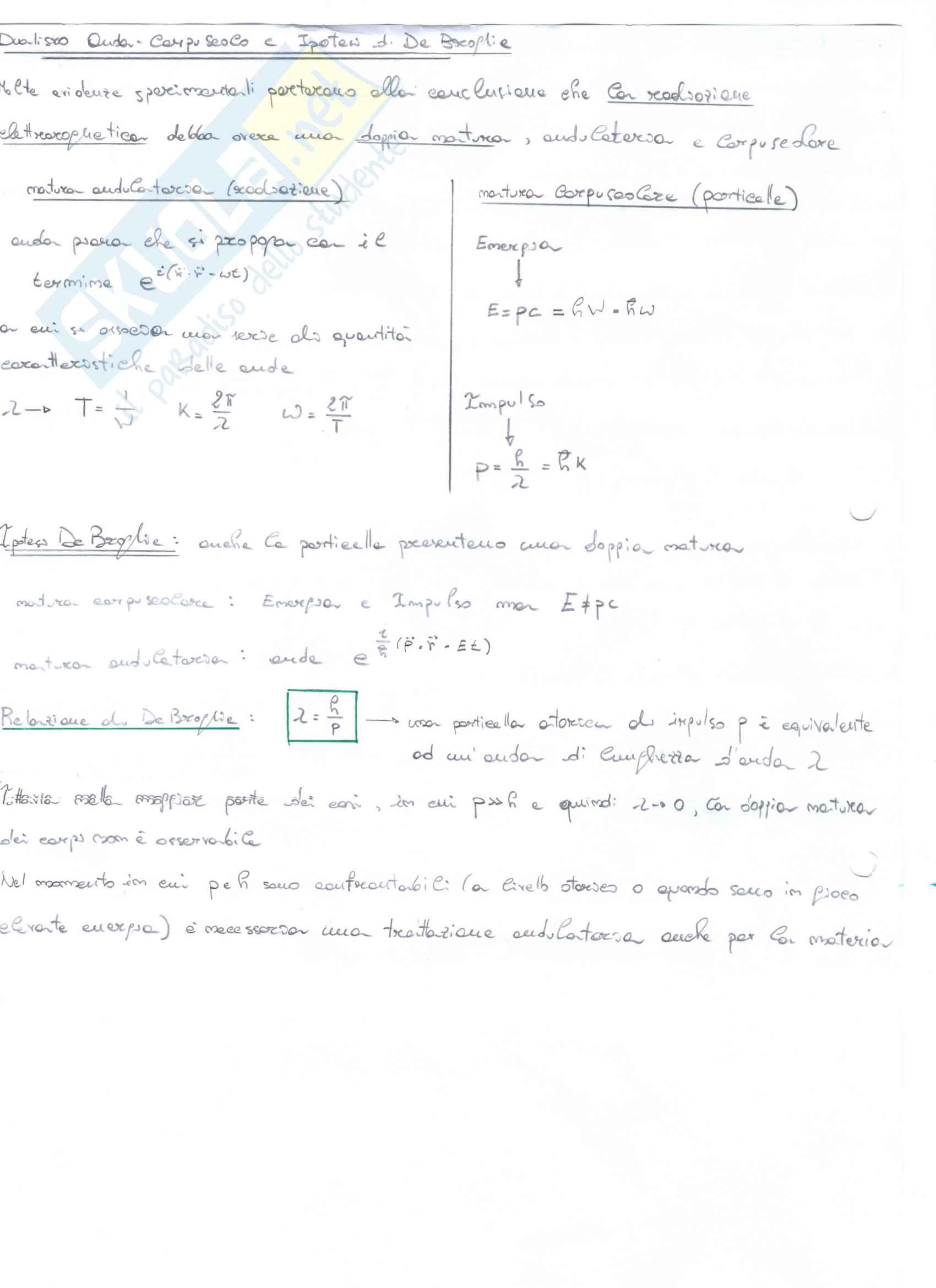 Appunti di Meccanica quantistica 1 Pag. 6
