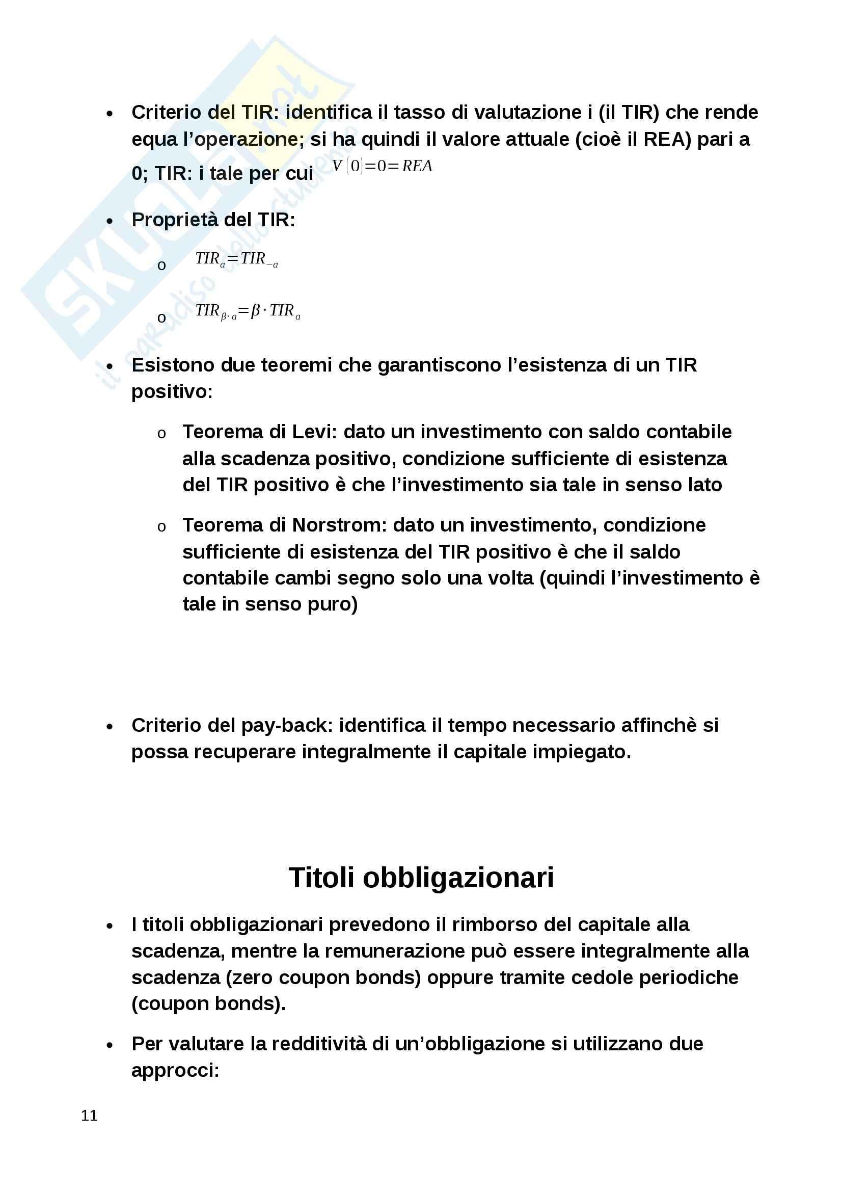 Lezioni e formulario, Matematica finanziaria Pag. 11
