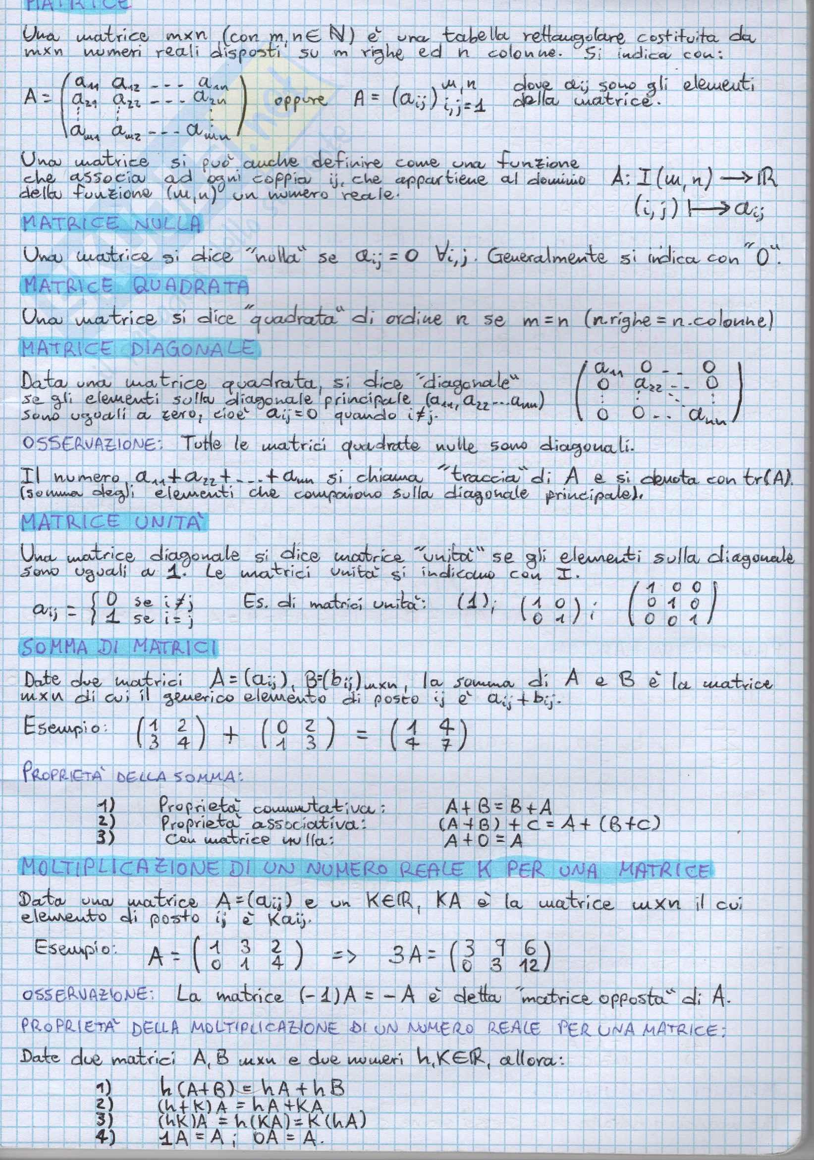Geometria & Algebra Lineare - Appunti