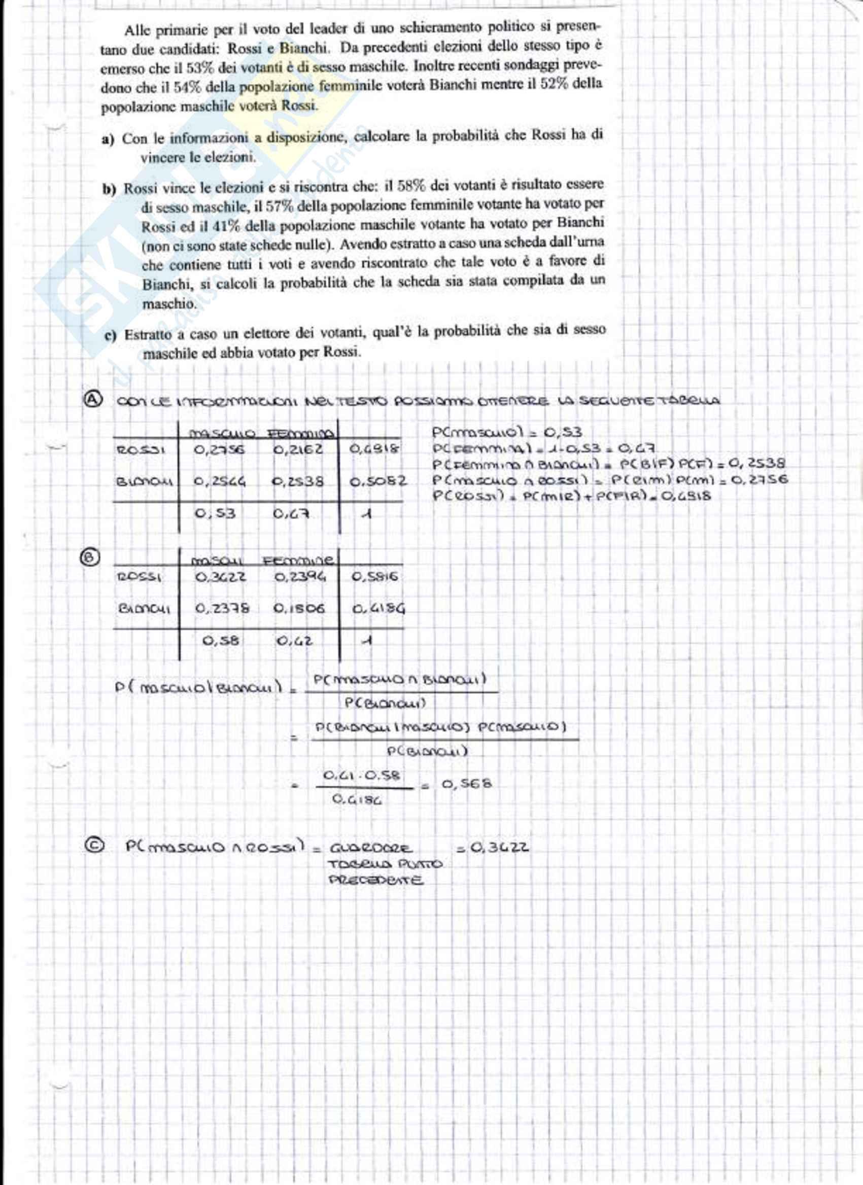 Esercizi e temi d'esame svolti di statistica per la finanza Pag. 2
