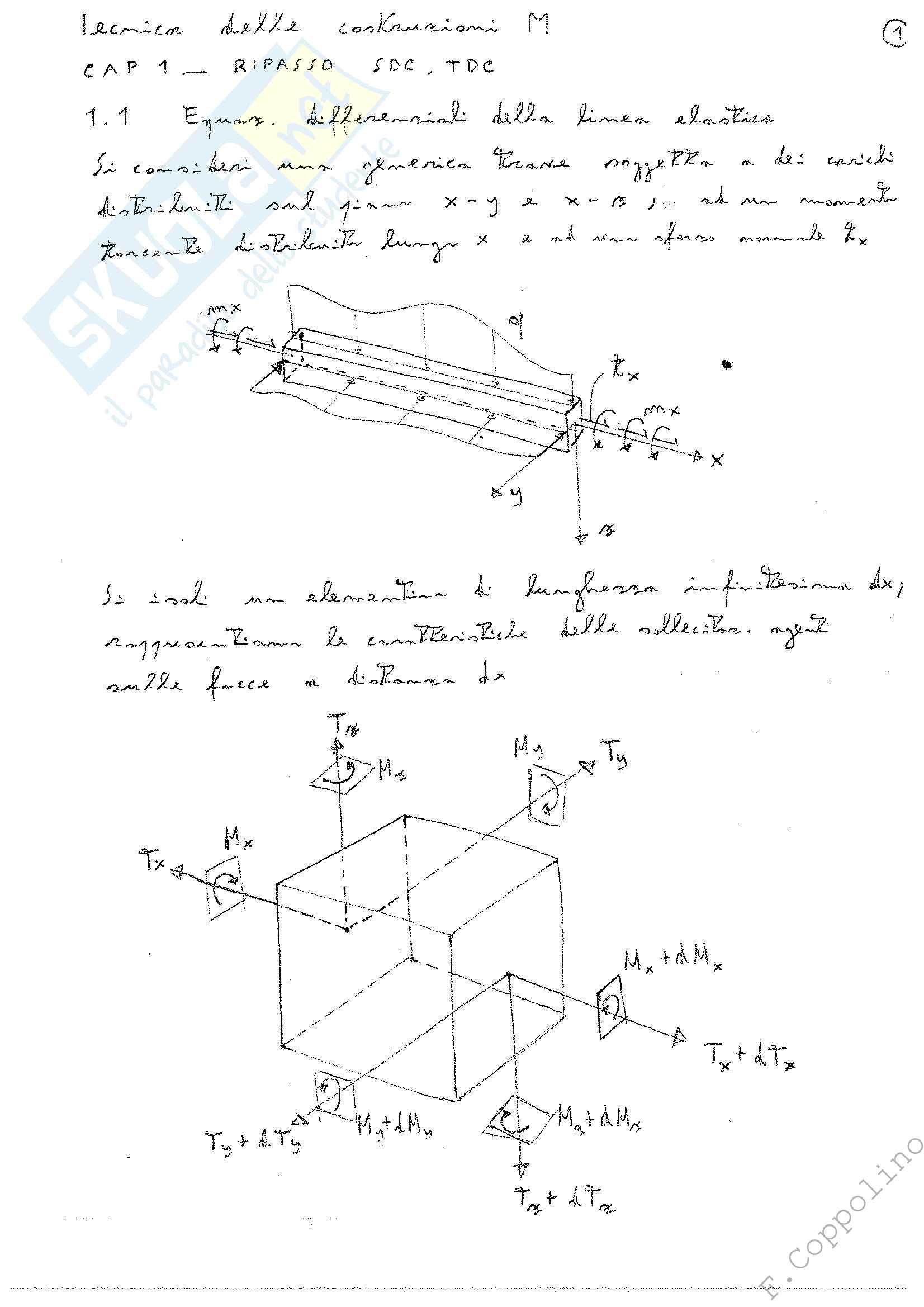Tecnica delle Costruzioni M, appunti integrati