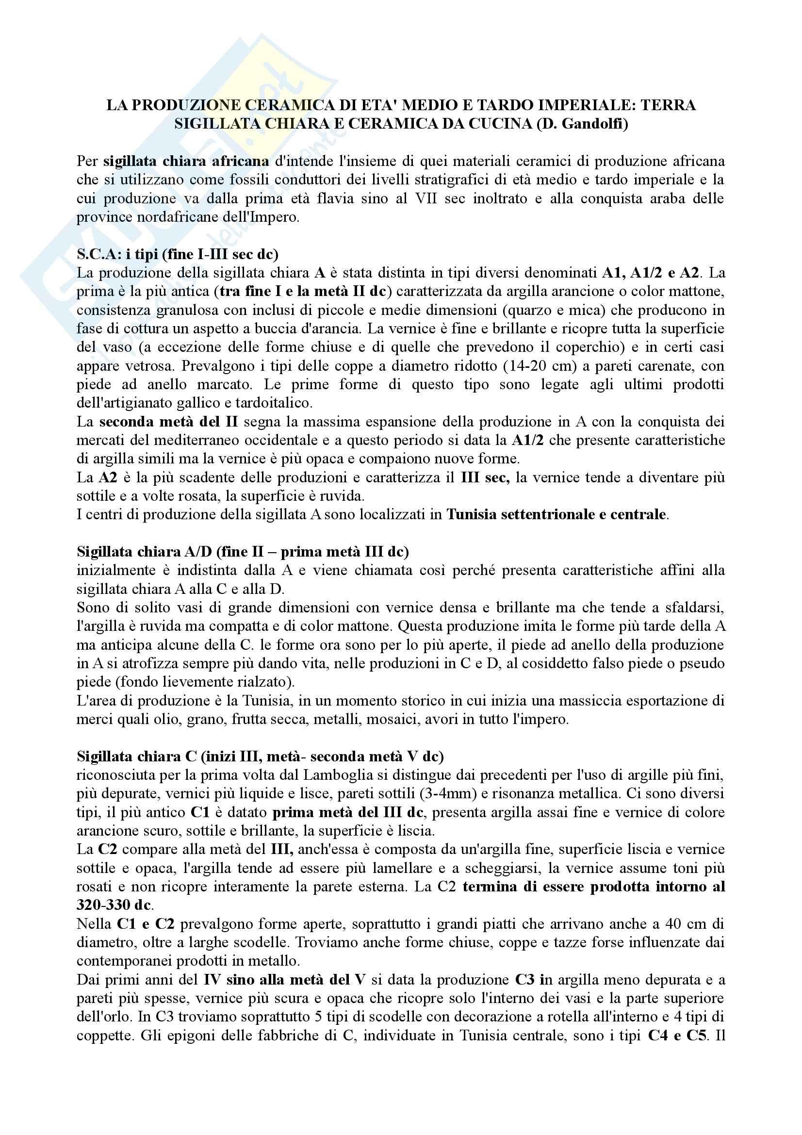 Riassunto esame Archeologia classica romana, prof. Pavolini Pag. 11