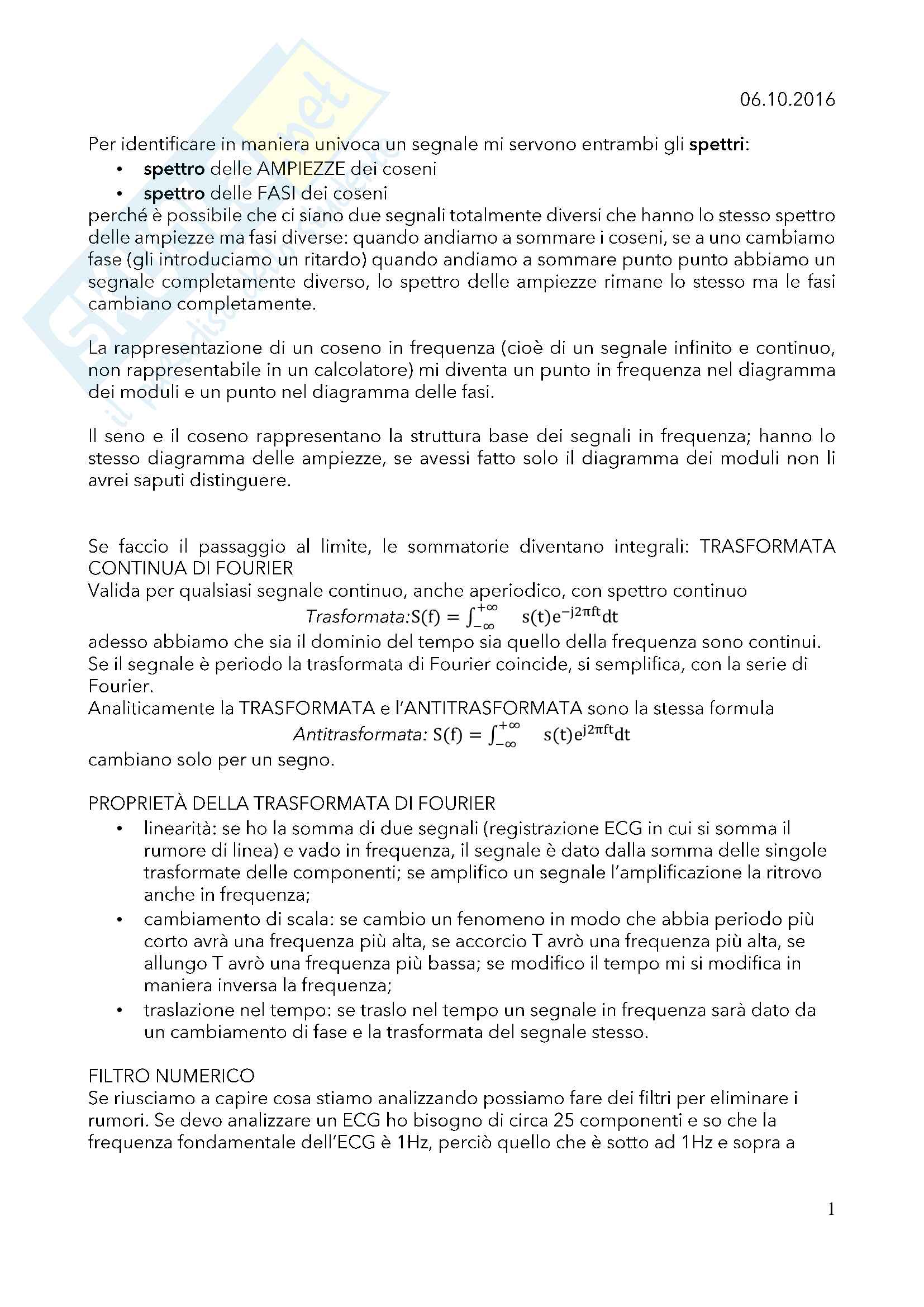 Appunti di Bioingegneria