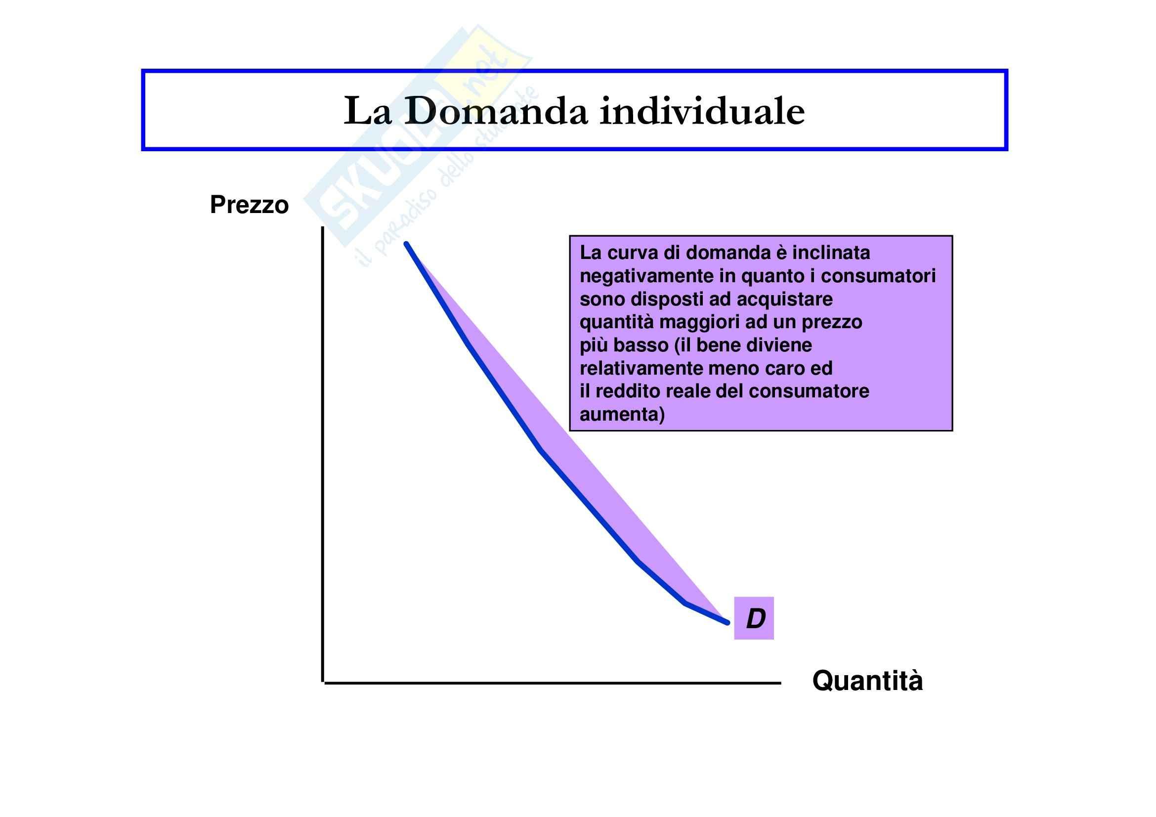 Economia politica - la domanda e l'offerta Pag. 2