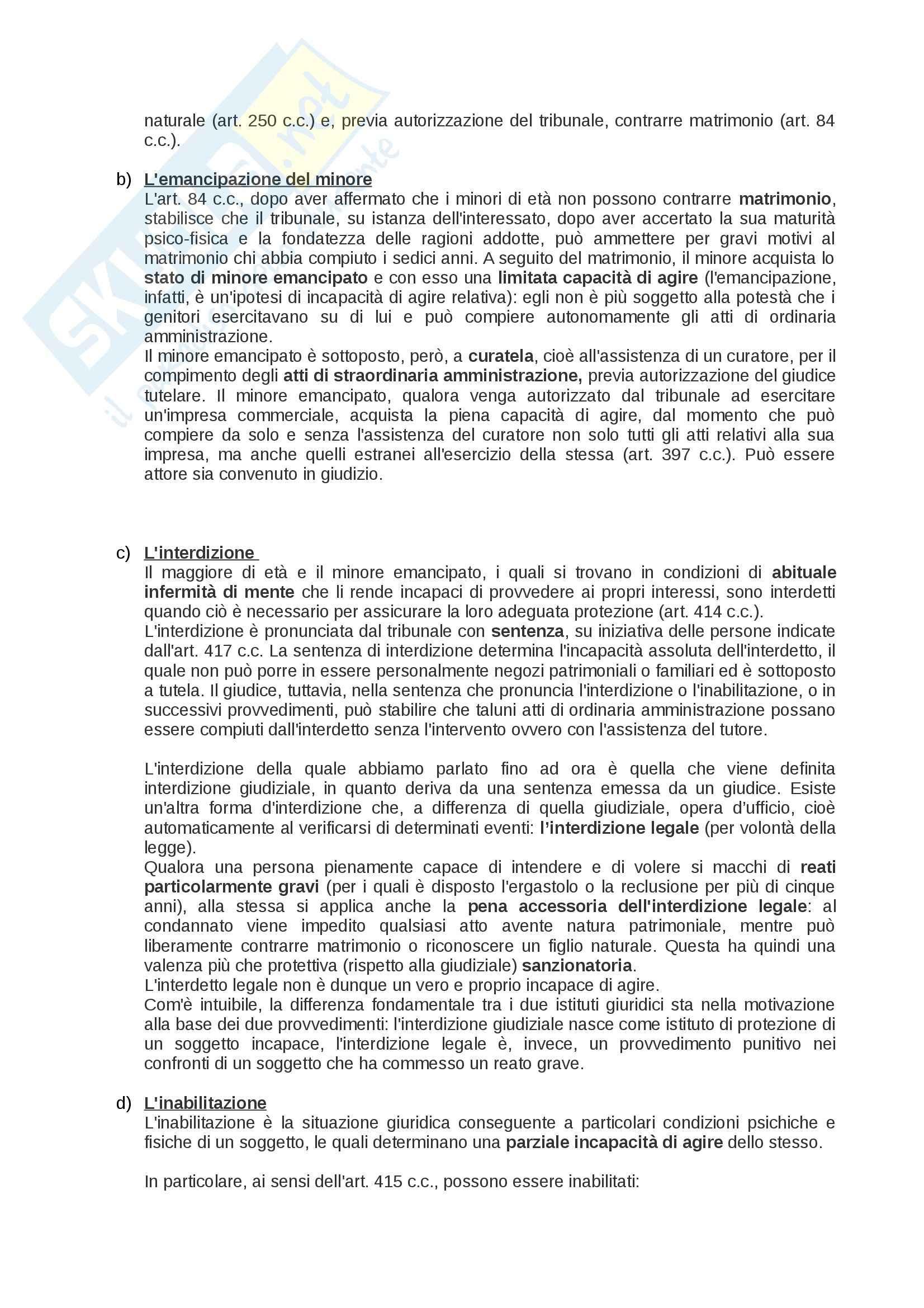 Riassunto esame Diritto privato: soggetti, beni, fatti, enti, prof. Rossi Pag. 6